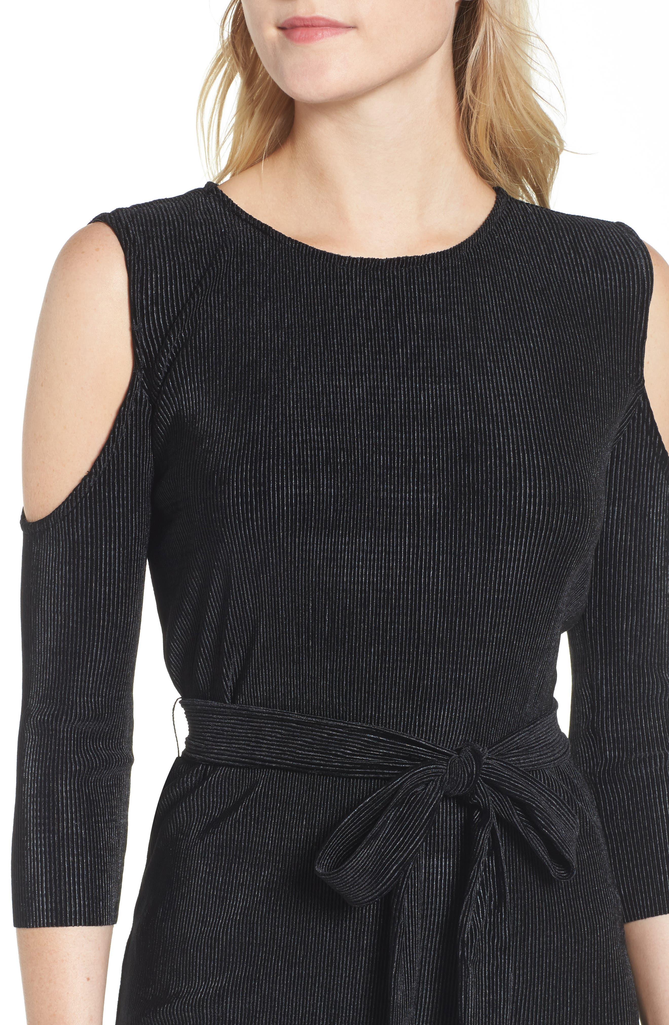 Bishop + Young Sasha Cold Shoulder Dress,                             Alternate thumbnail 4, color,