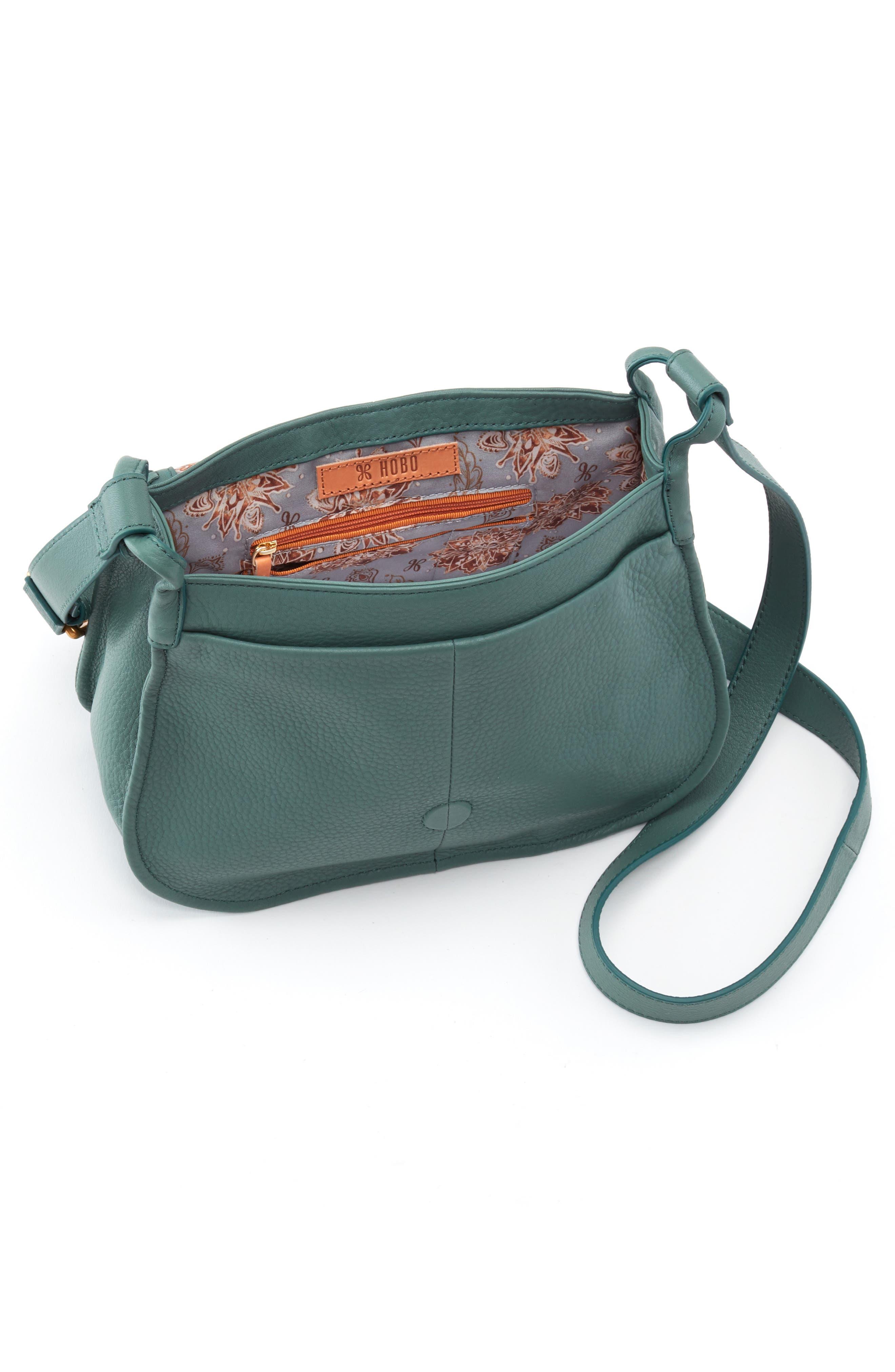 Brio Leather Crossbody Bag,                             Alternate thumbnail 3, color,                             MEADOW