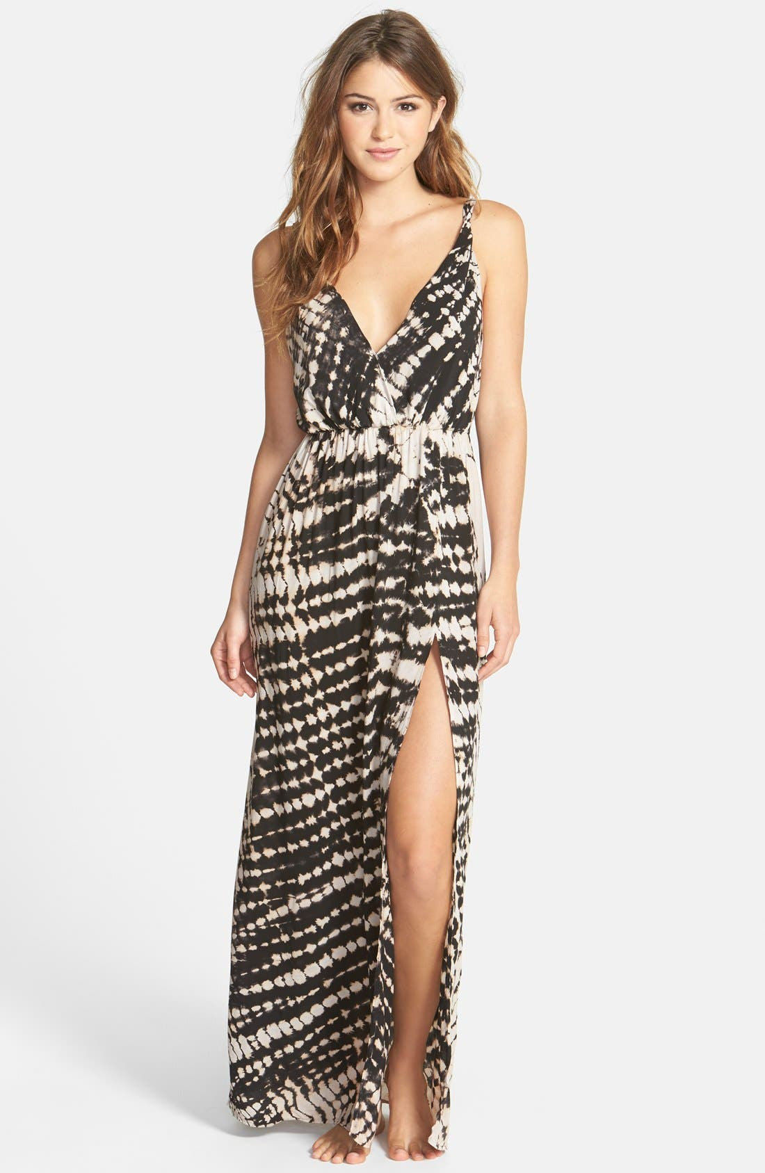 'High Tide' Tie Dyed Jersey Maxi Dress, Main, color, 001