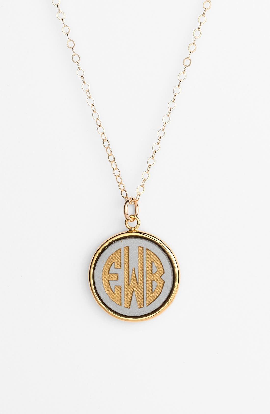 'Vineyard' Personalized Monogram Pendant Necklace,                             Main thumbnail 3, color,