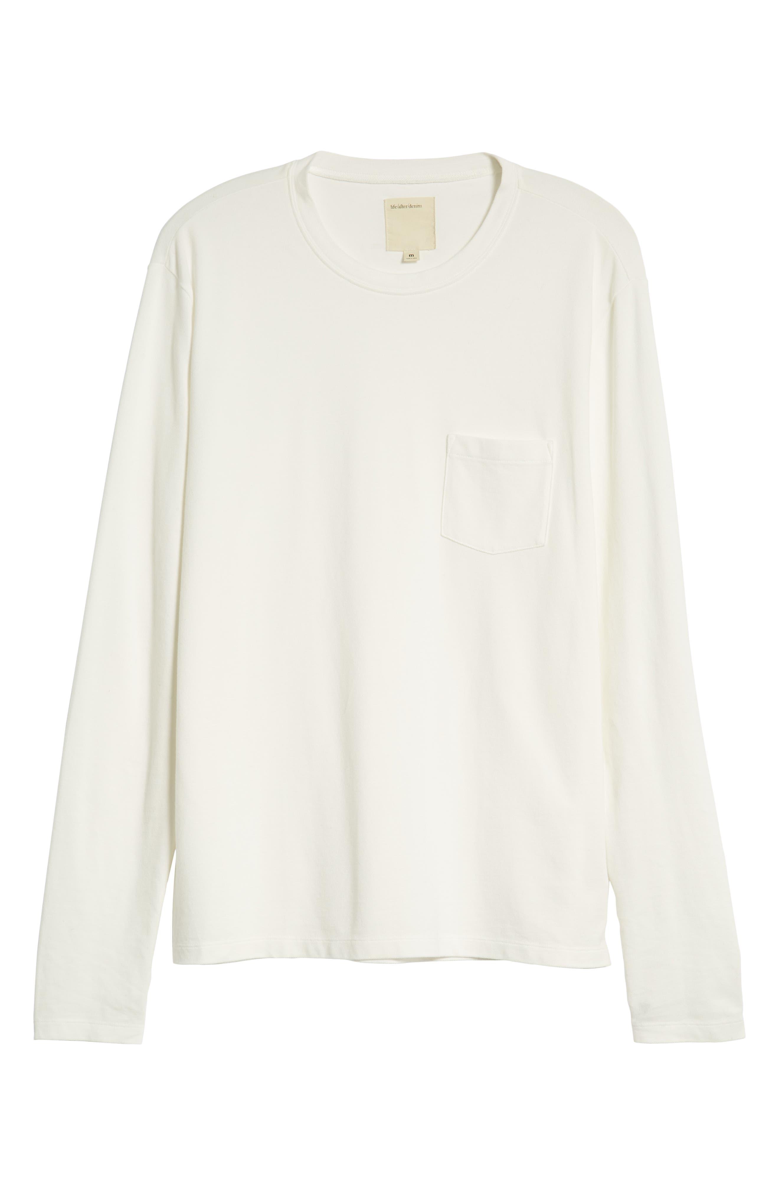 Piqua Pocket T-Shirt,                             Alternate thumbnail 6, color,                             WHITE