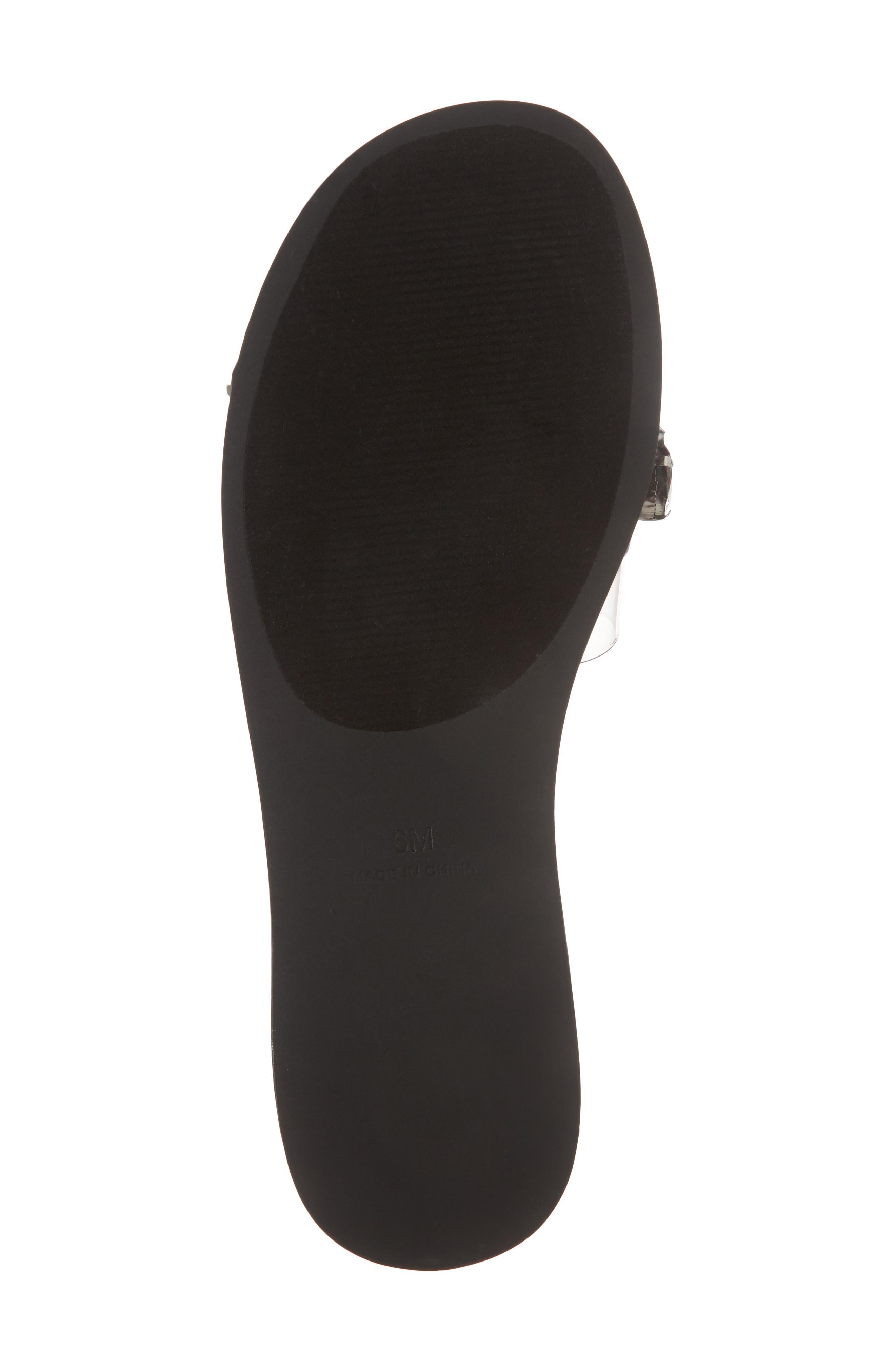 Rosalyn Embellished Slide Sandal,                             Alternate thumbnail 6, color,                             BLACK MULTI