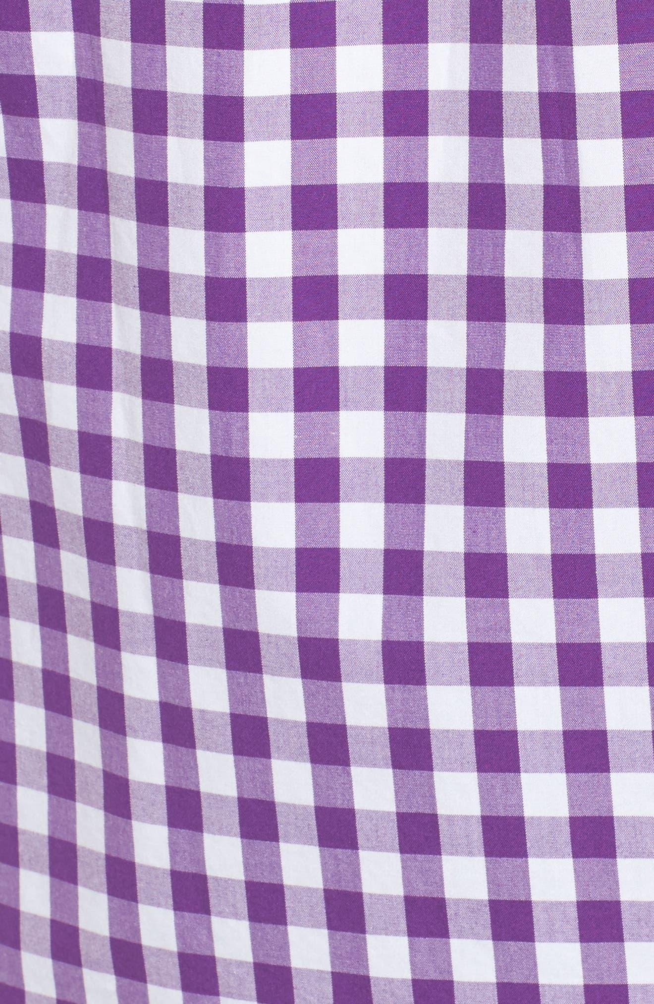 Classic Fit Tucker Garter Gingham Sport Shirt,                             Alternate thumbnail 5, color,
