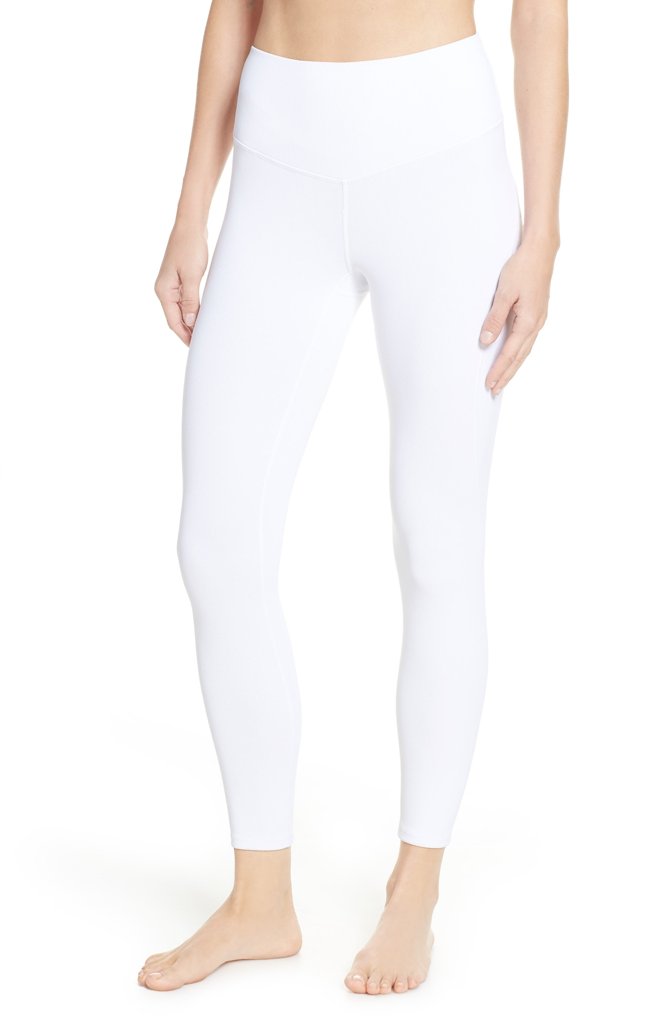 Free People FP Movement Formation High Waist Ankle Leggings,                             Main thumbnail 1, color,                             WHITE