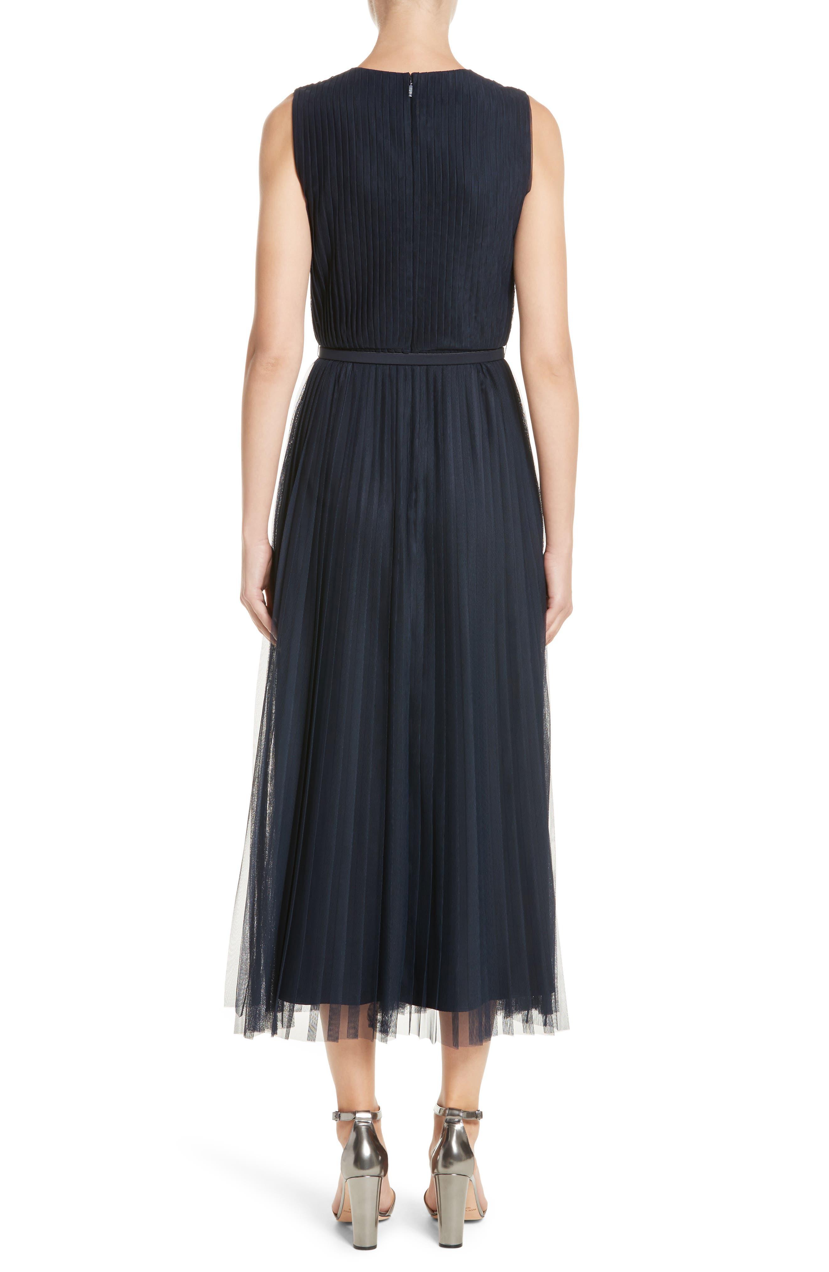 Pleated Mesh Dress,                             Alternate thumbnail 2, color,                             434