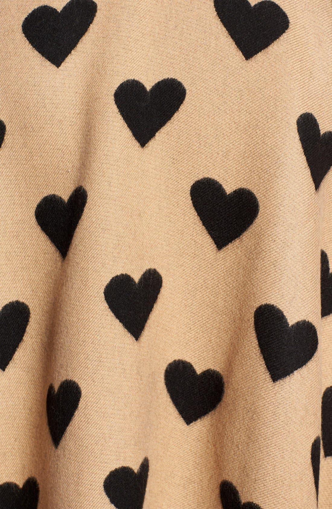 'Collette' Heart Print Wool Scarf,                             Alternate thumbnail 2, color,                             200