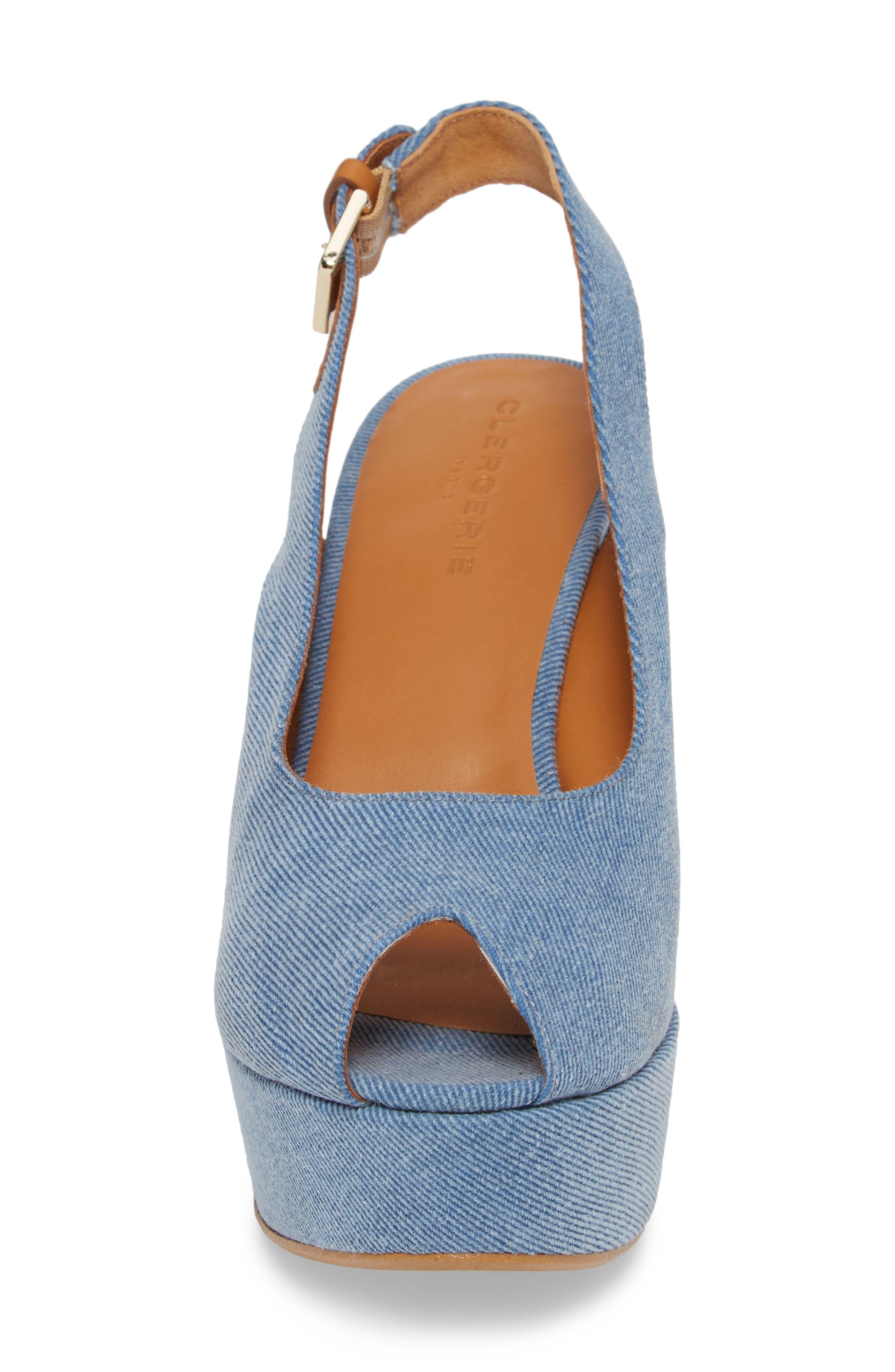 Dylanto Platform Wedge Sandal,                             Alternate thumbnail 4, color,                             400