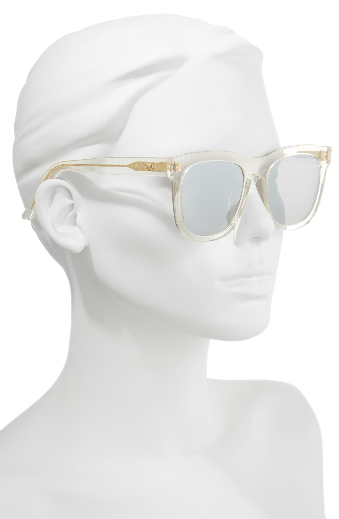 Pulp Fiction 54mm Sunglasses,                             Alternate thumbnail 2, color,                             100