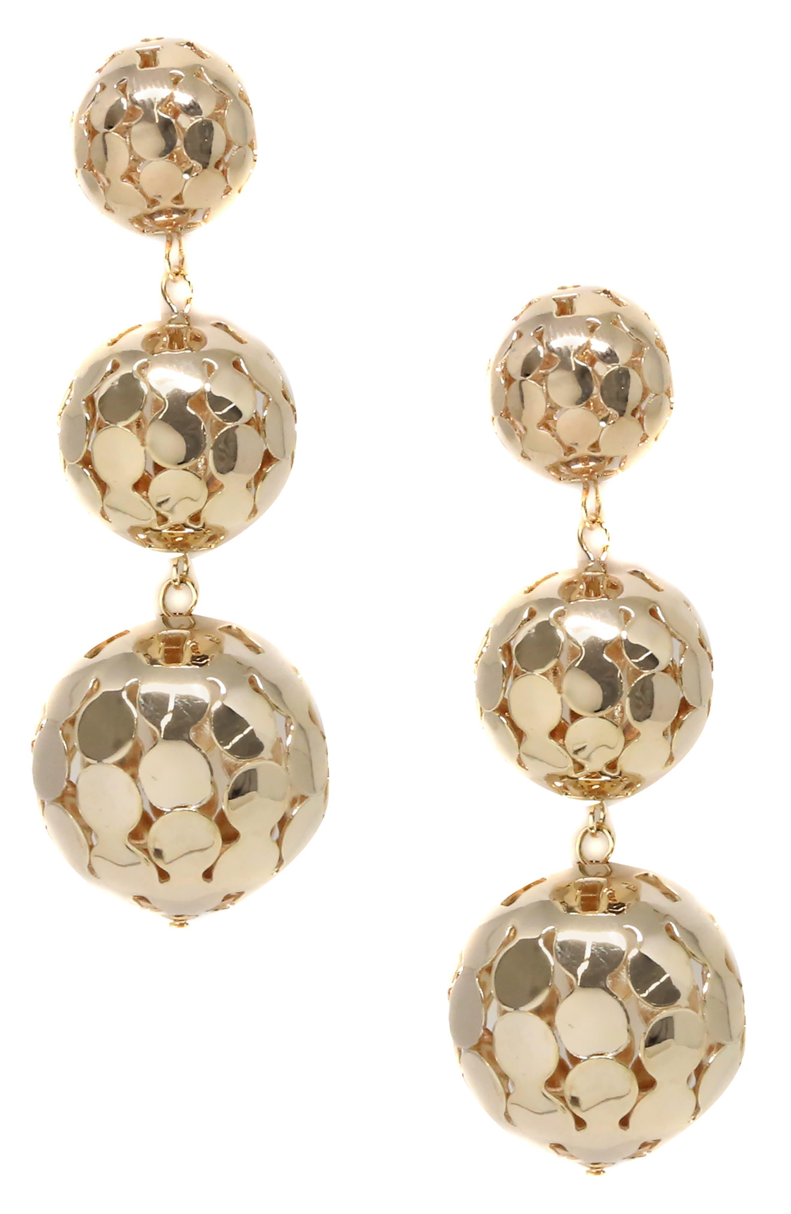 ETTIKA Sphere Drop Earrings in Gold