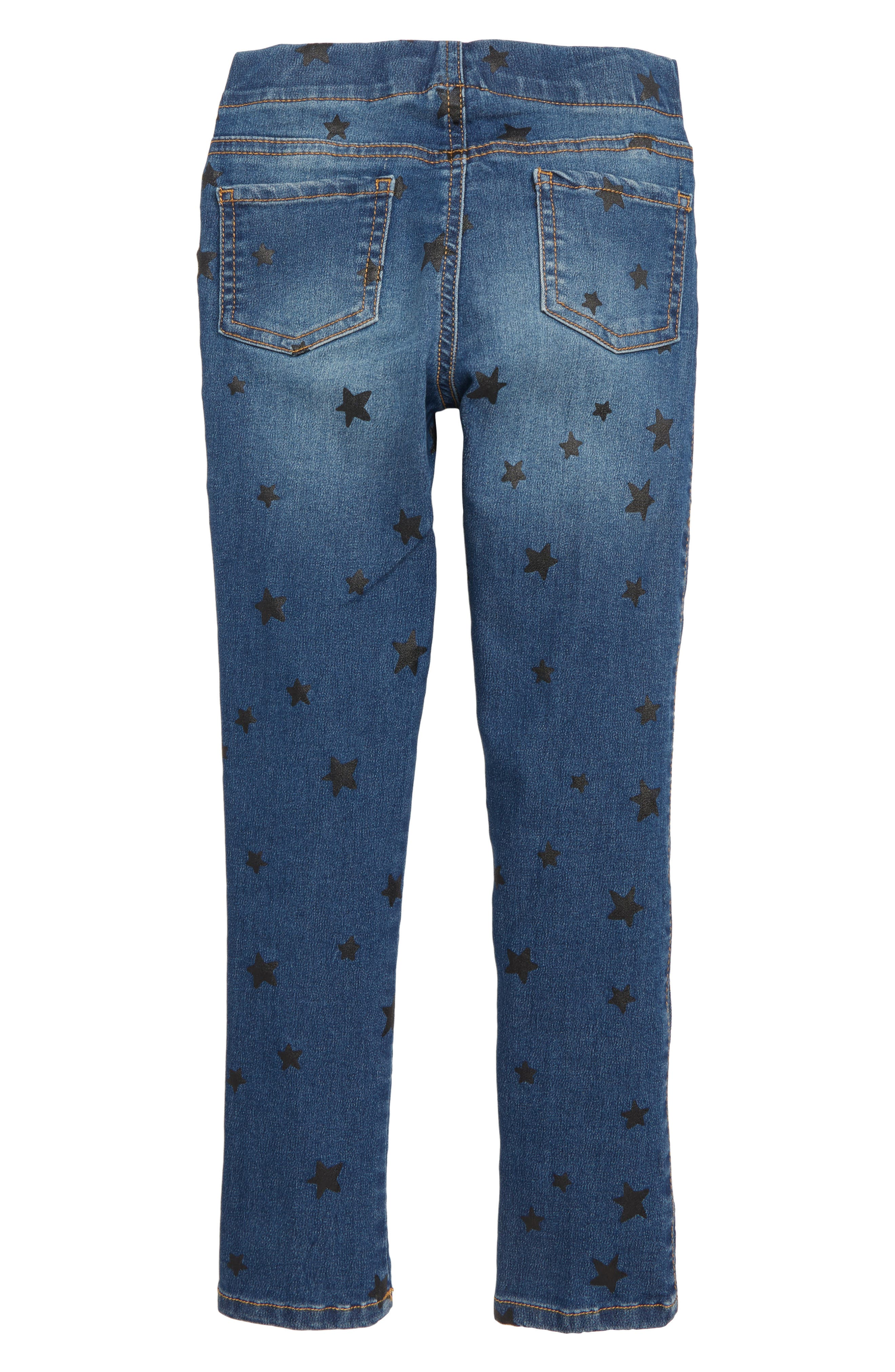 Print Jeggings,                             Alternate thumbnail 2, color,                             INDIGO WASH STARS