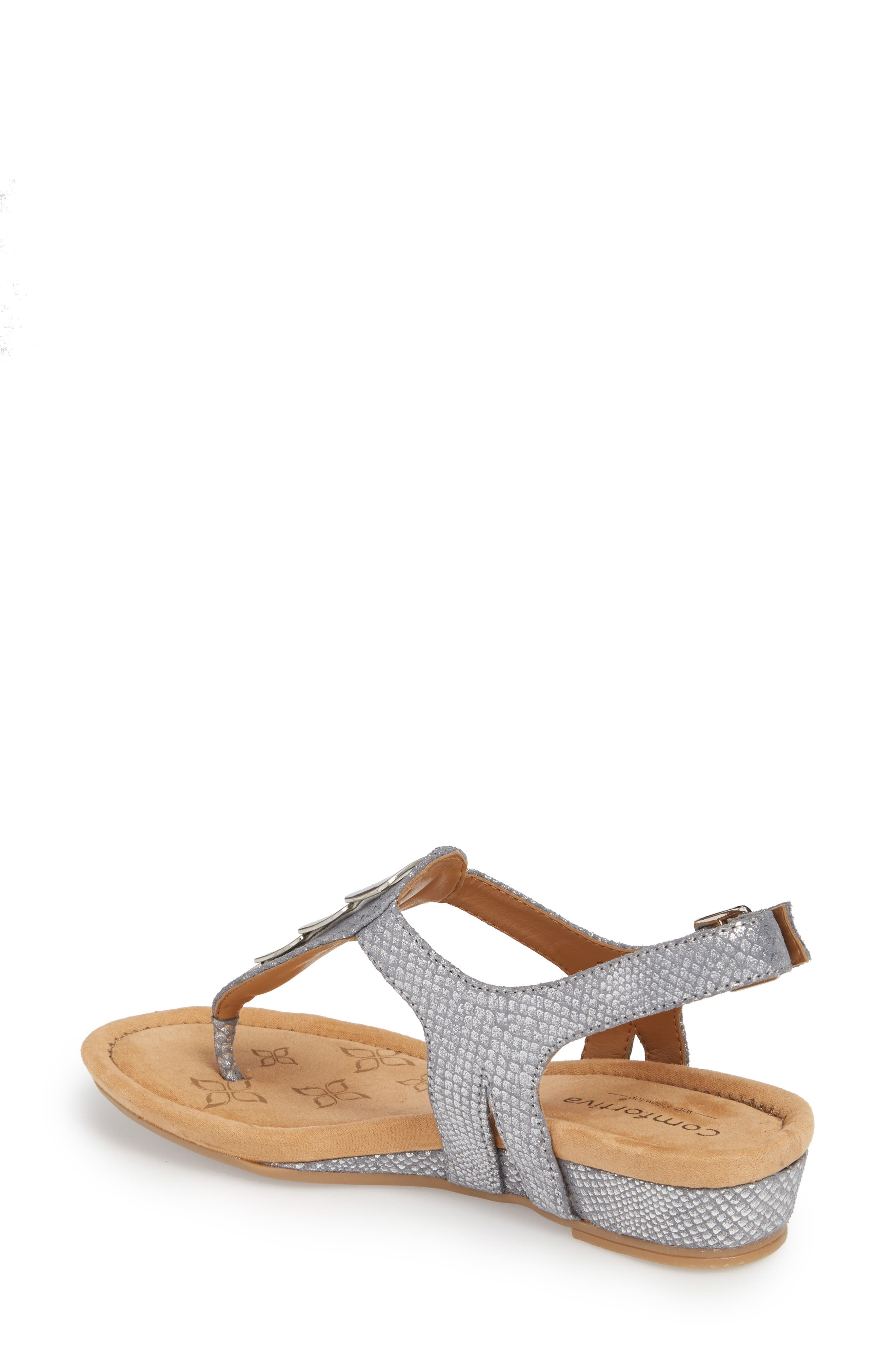 Summit Wedge Sandal,                             Alternate thumbnail 2, color,                             PEWTER SUEDE
