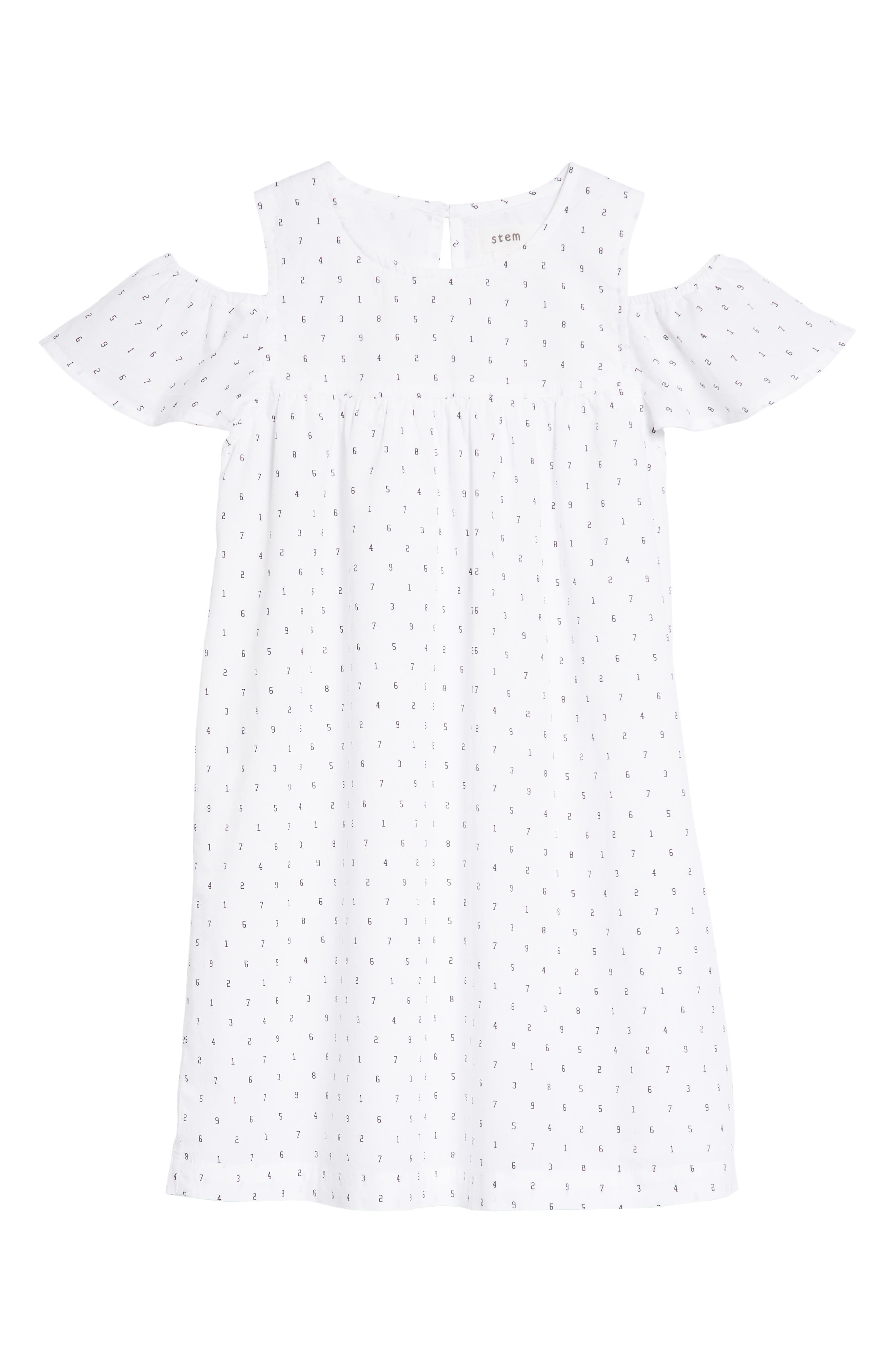 Cold Shoulder Dress,                             Main thumbnail 1, color,                             100