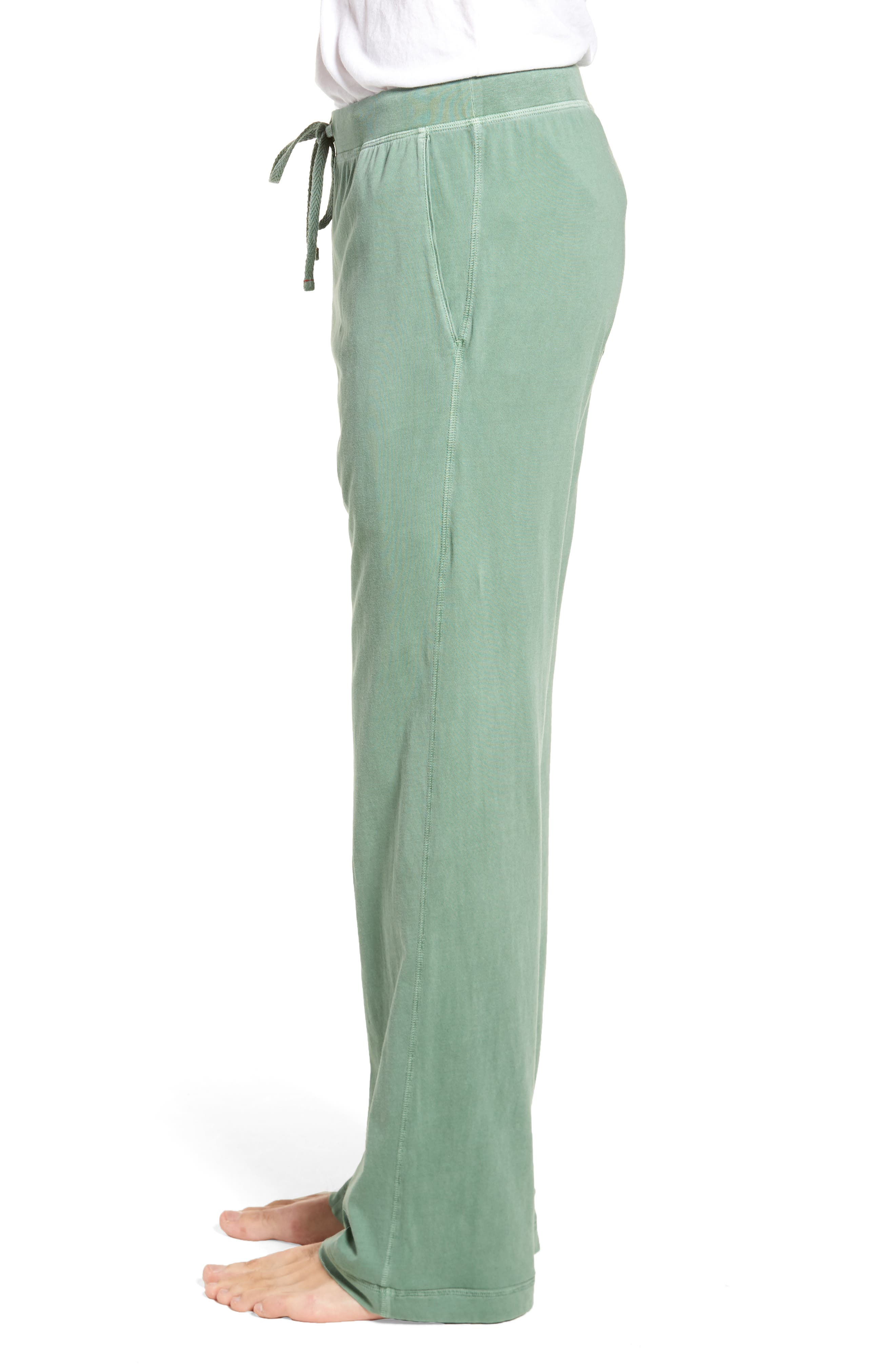 Peruvian Pima Cotton Lounge Pants,                             Alternate thumbnail 3, color,                             MOSS