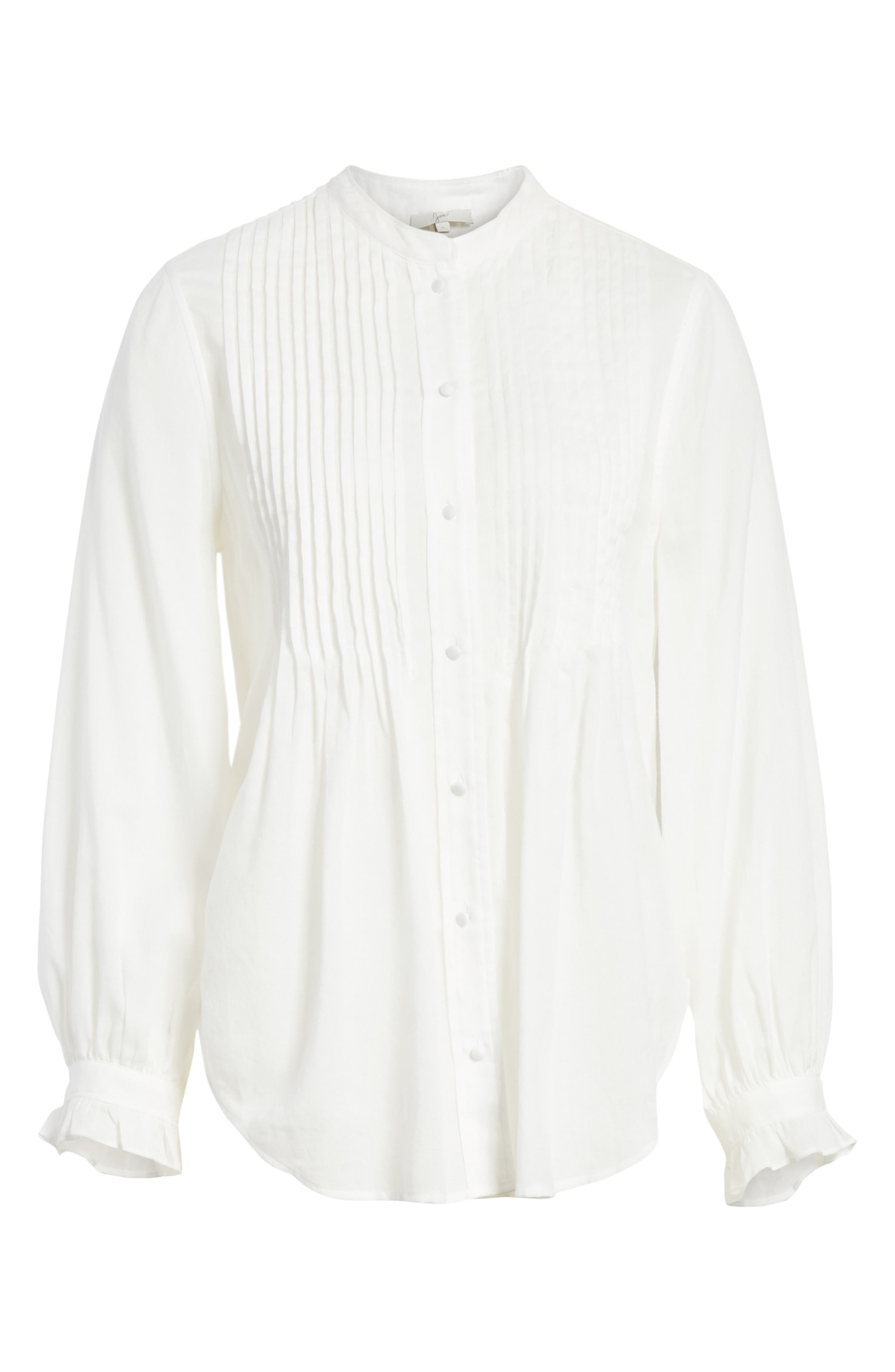 Vonzel Pintuck Cotton Top,                             Alternate thumbnail 6, color,                             120