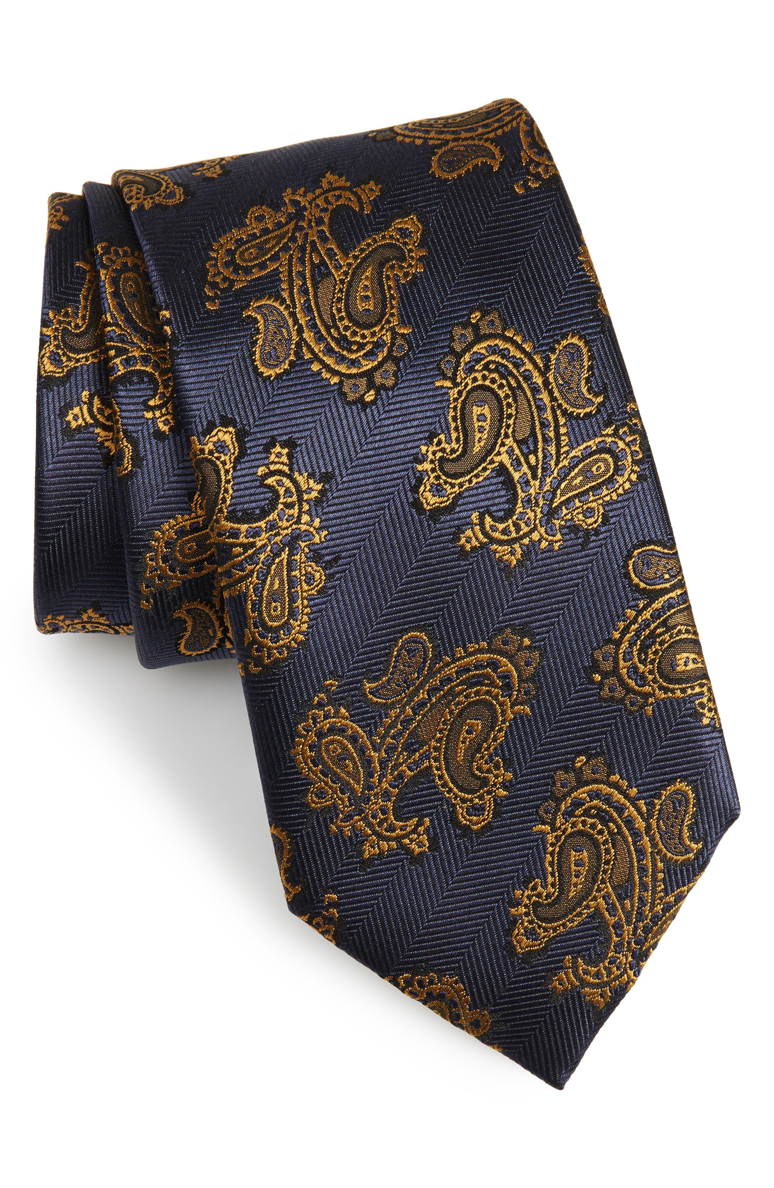 Paisley Silk Tie,                             Main thumbnail 1, color,                             483
