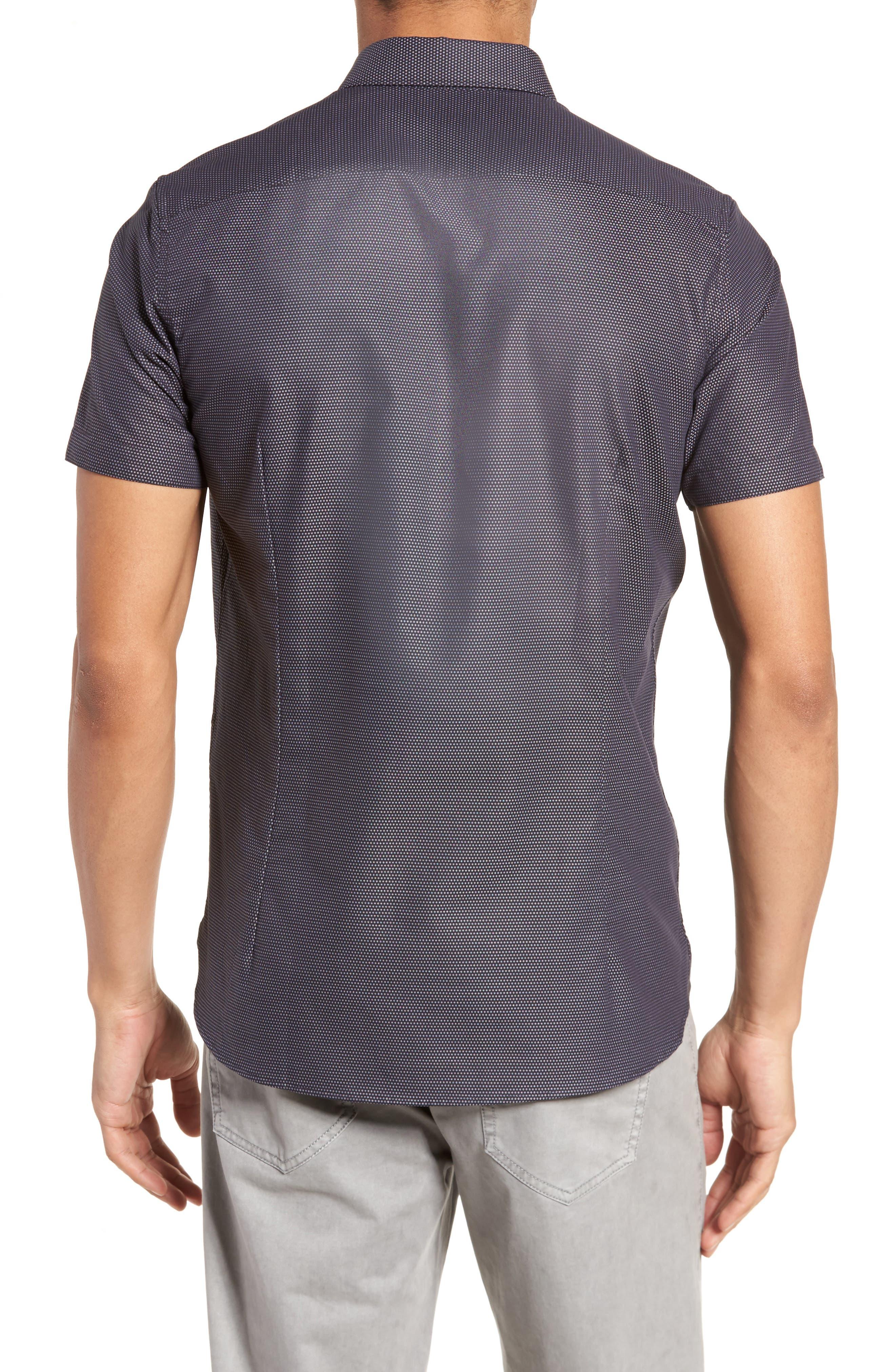 Dotdots Trim Fit Dot Short Sleeve Sport Shirt,                             Alternate thumbnail 2, color,                             001