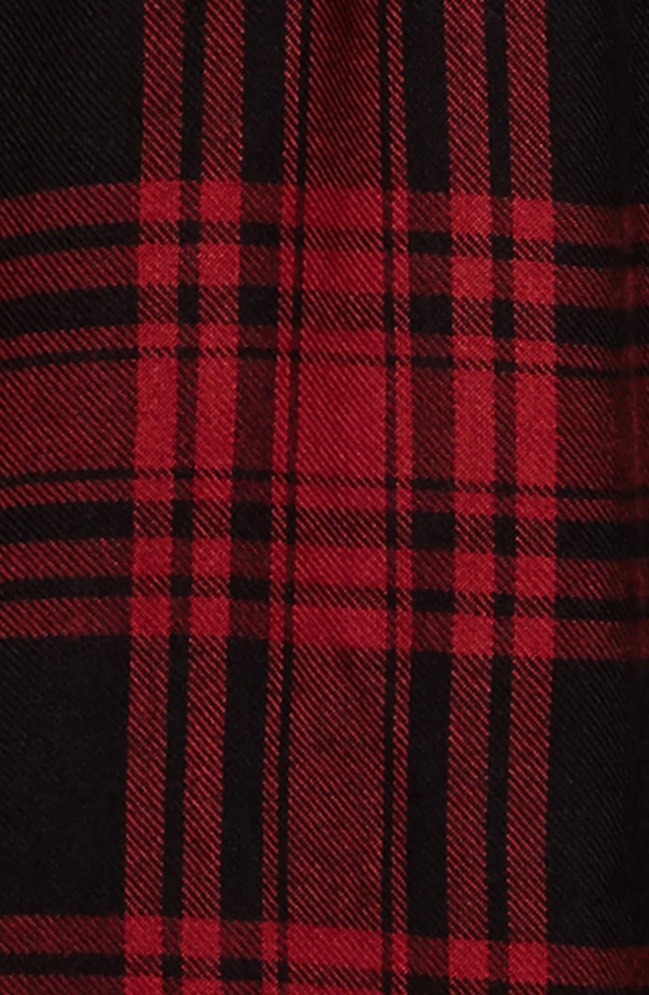 Belted Plaid Dress,                             Alternate thumbnail 3, color,