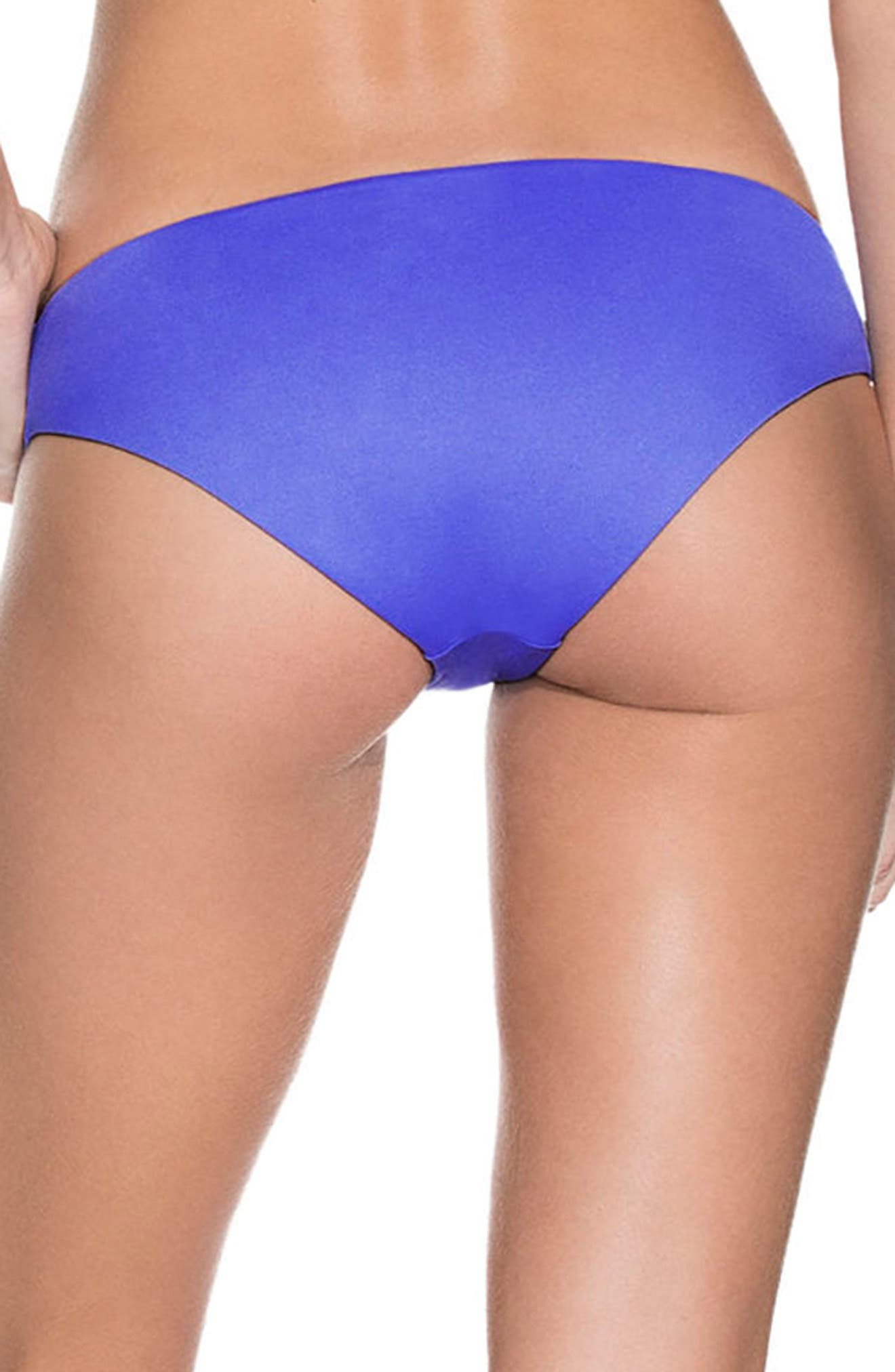 Mediterranean Blue Sublime Reversible Bikini Bottoms,                             Alternate thumbnail 2, color,                             BLUE
