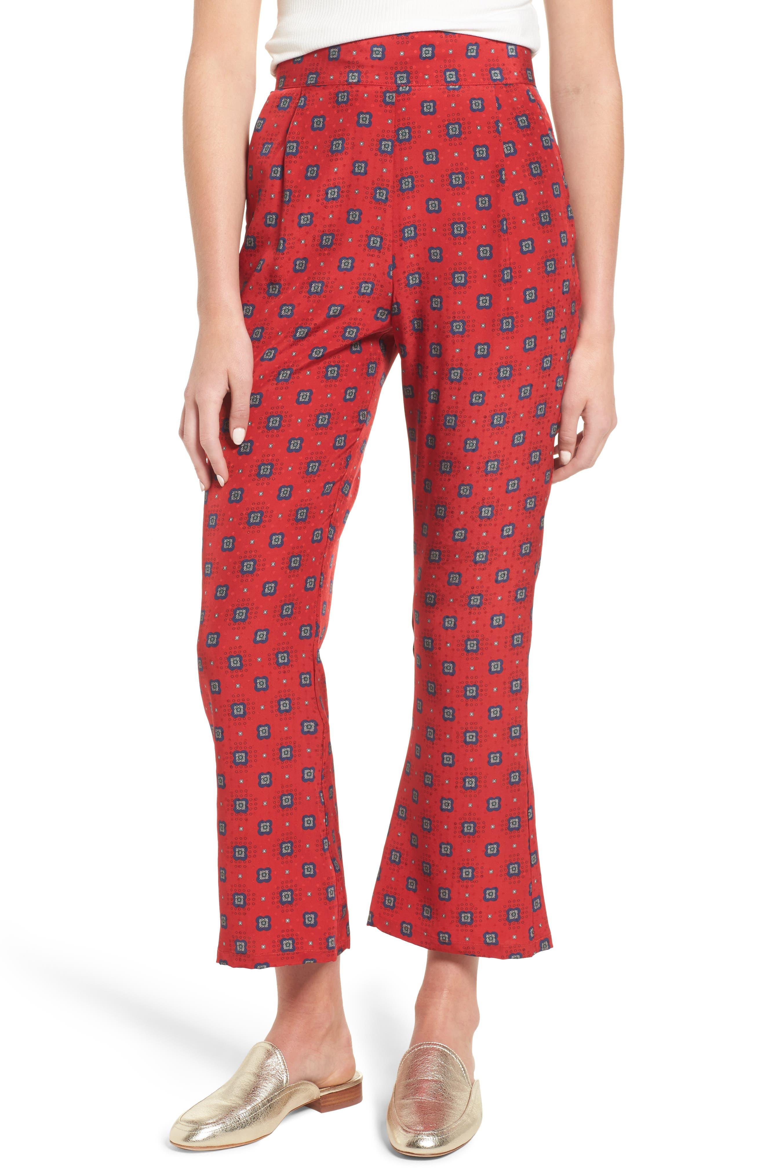 Isla Silk Crop Pants,                             Main thumbnail 2, color,