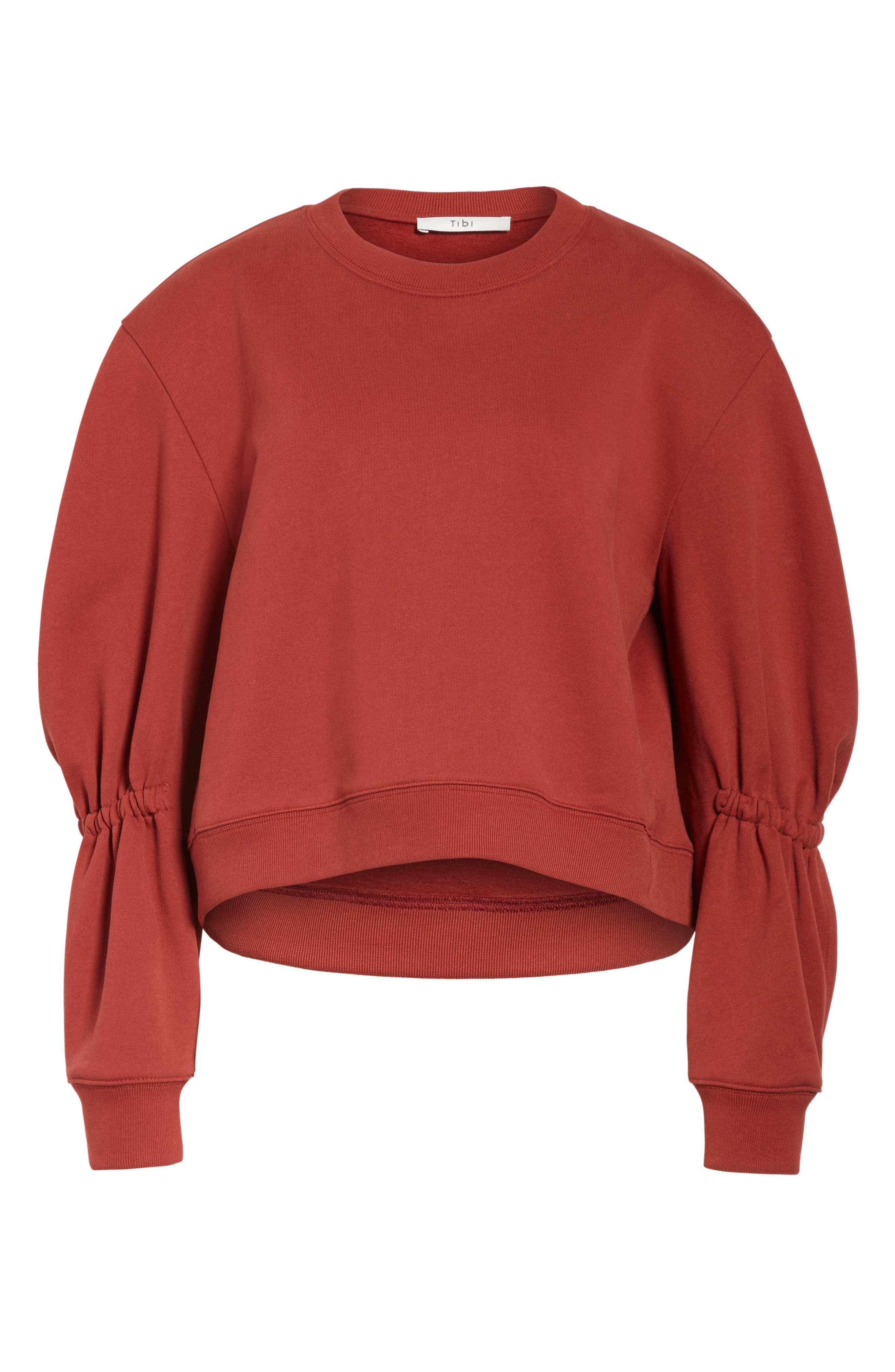 Sculpted Sleeve Sweatshirt,                             Alternate thumbnail 6, color,                             606
