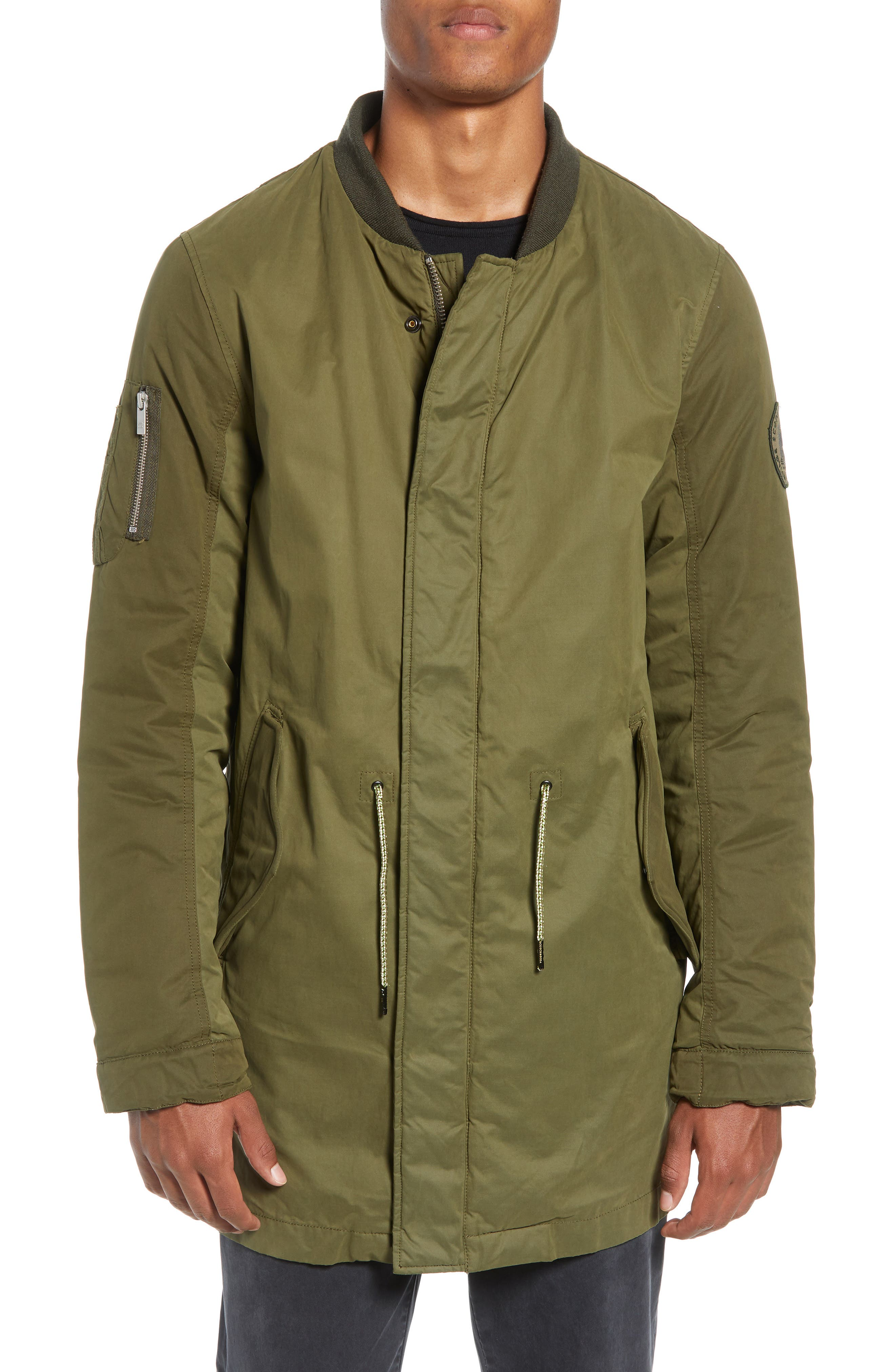 Seasonal Parka with Removable Lining and Detachable Faux Shearling Hood,                             Alternate thumbnail 4, color,                             301