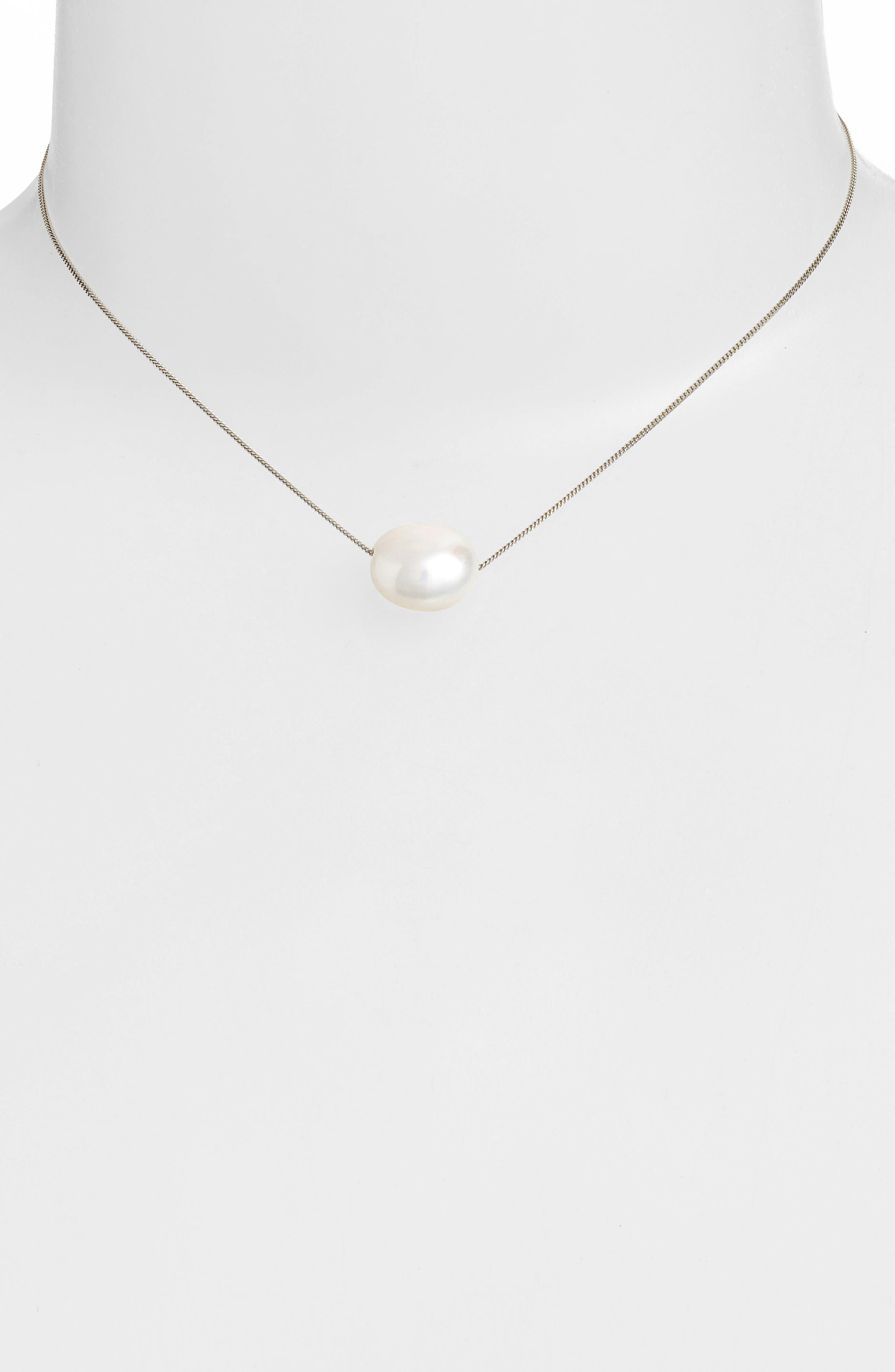 Short Pearl Pendant Necklace,                             Alternate thumbnail 2, color,                             108