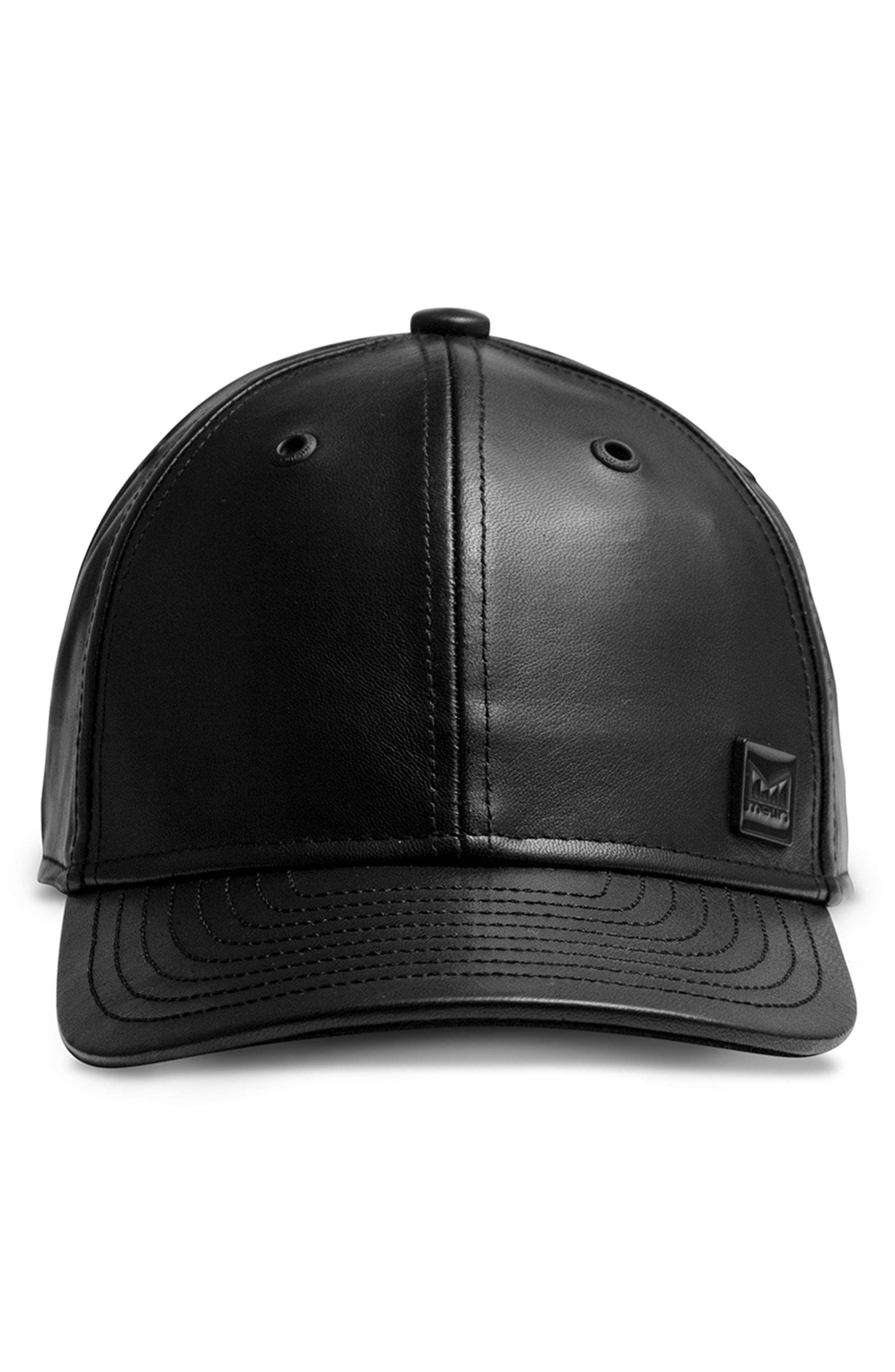 Voyage Elite Leather Ball Cap,                             Alternate thumbnail 2, color,                             BLACK