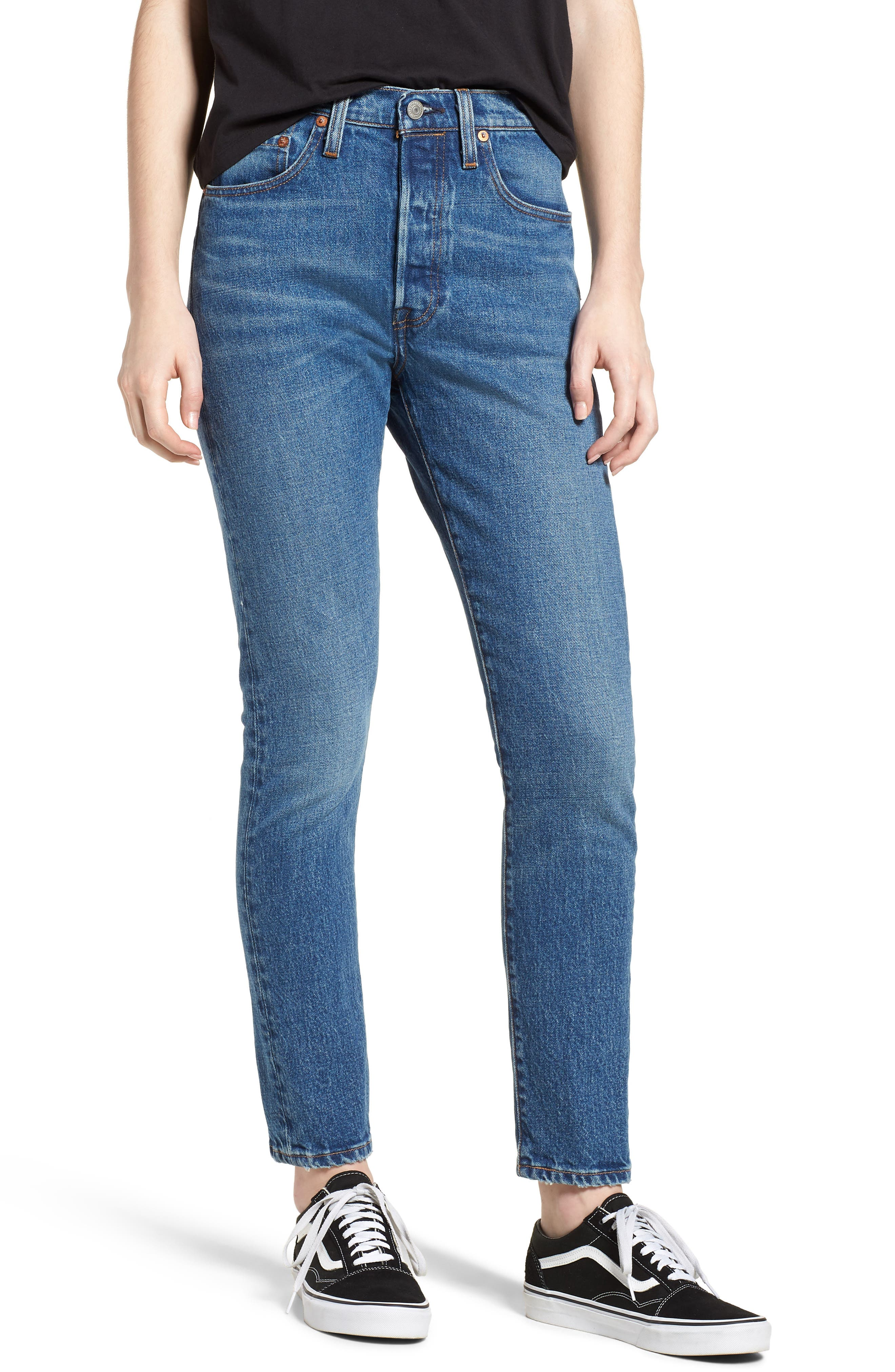 501<sup>™</sup> High Waist Skinny Jeans,                             Main thumbnail 1, color,                             WE THE PEOPLE