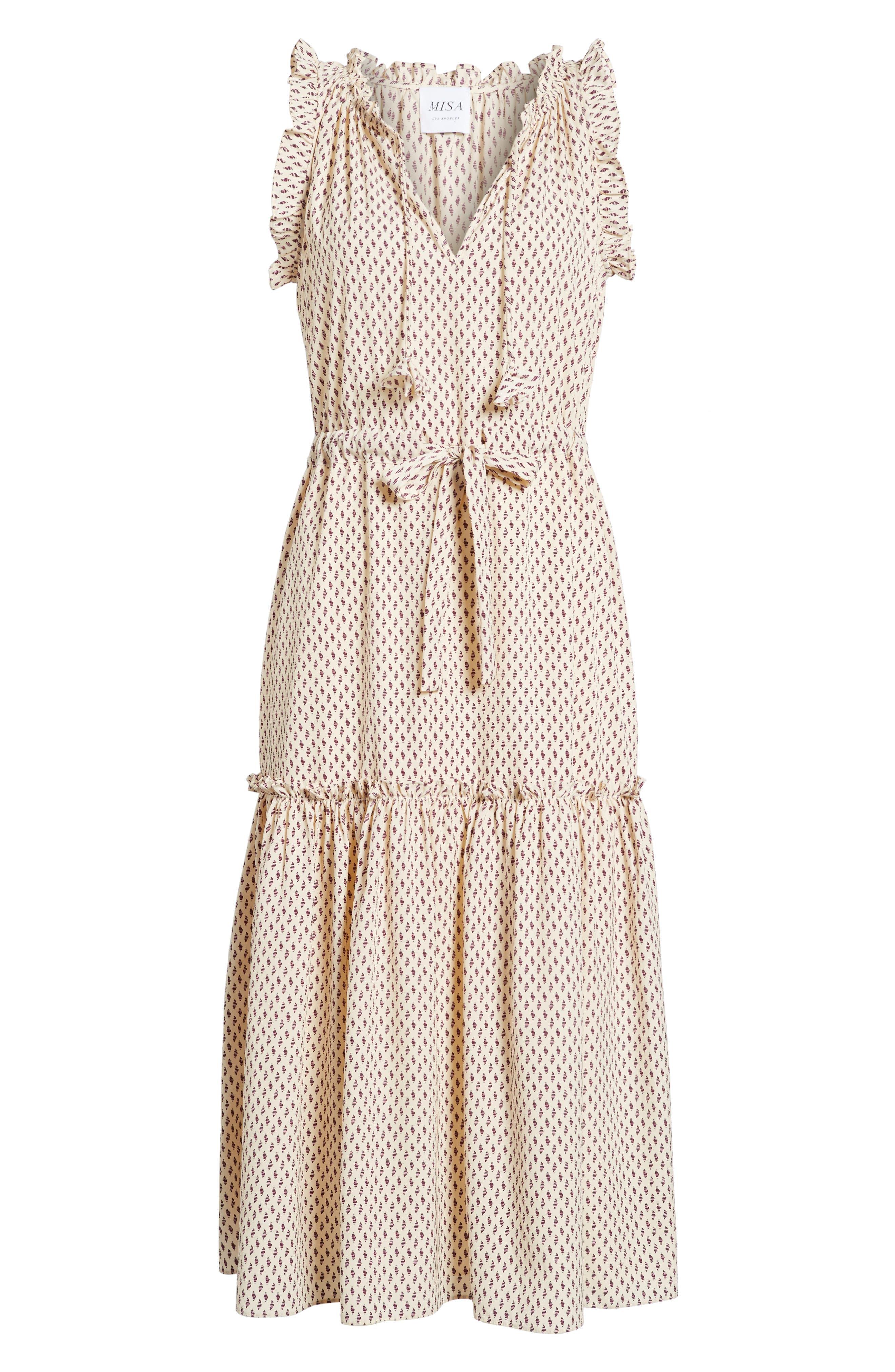 Martina Midi Dress,                             Alternate thumbnail 6, color,                             901