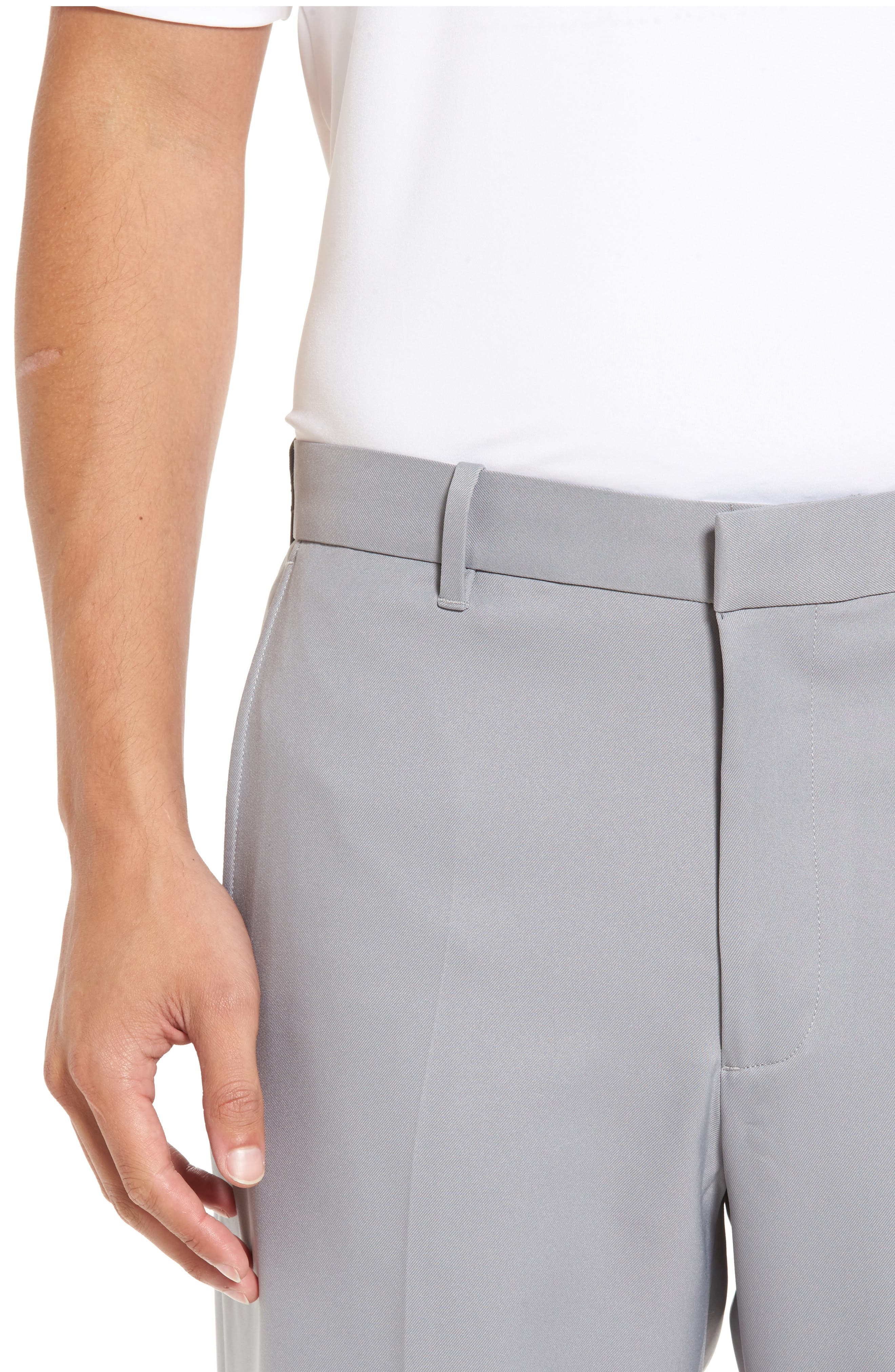 'Tech' Flat Front Wrinkle Free Golf Pants,                             Alternate thumbnail 4, color,                             052