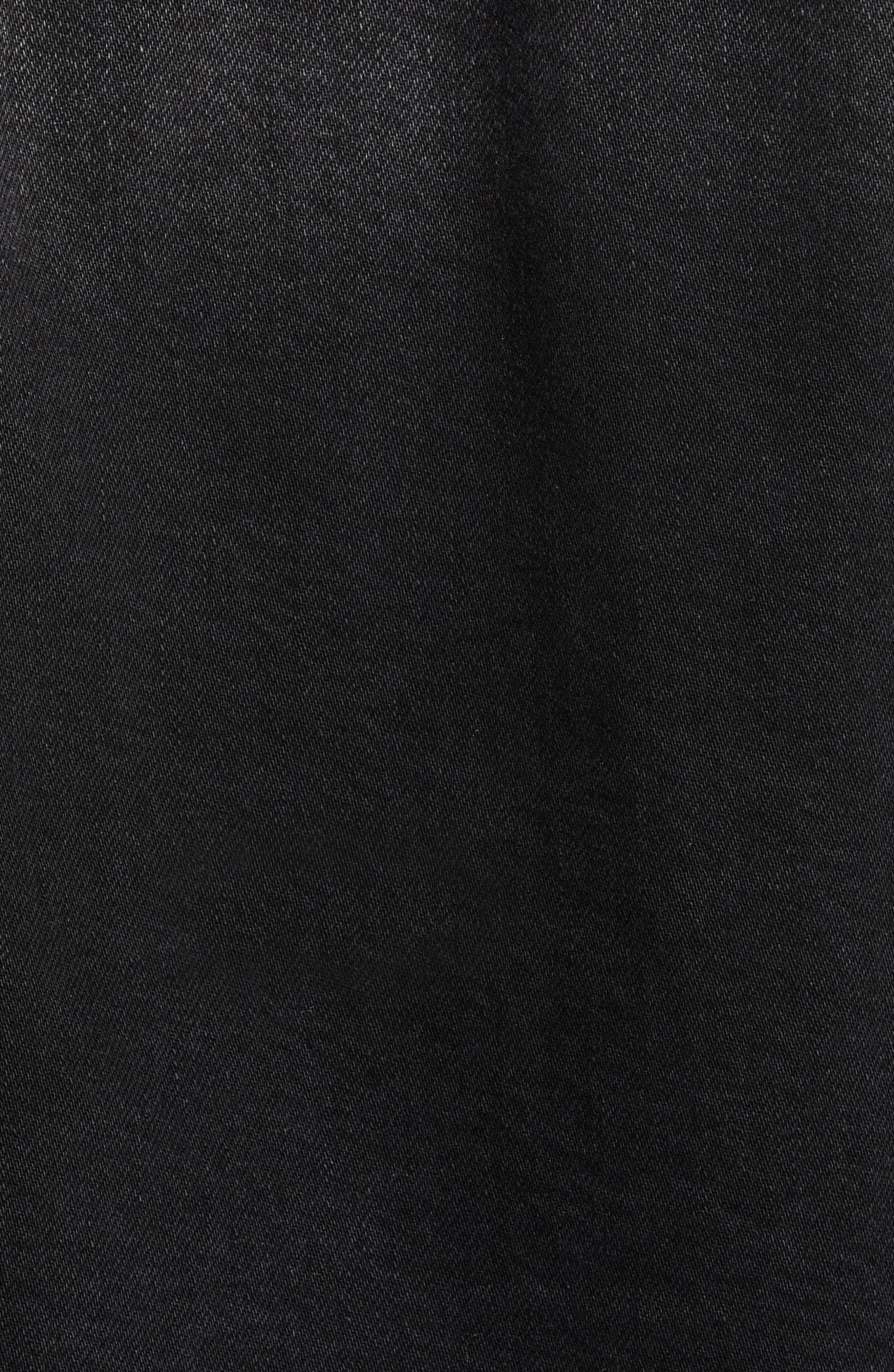 Annie Crop Denim Jacket,                             Alternate thumbnail 7, color,                             BLACKBURN