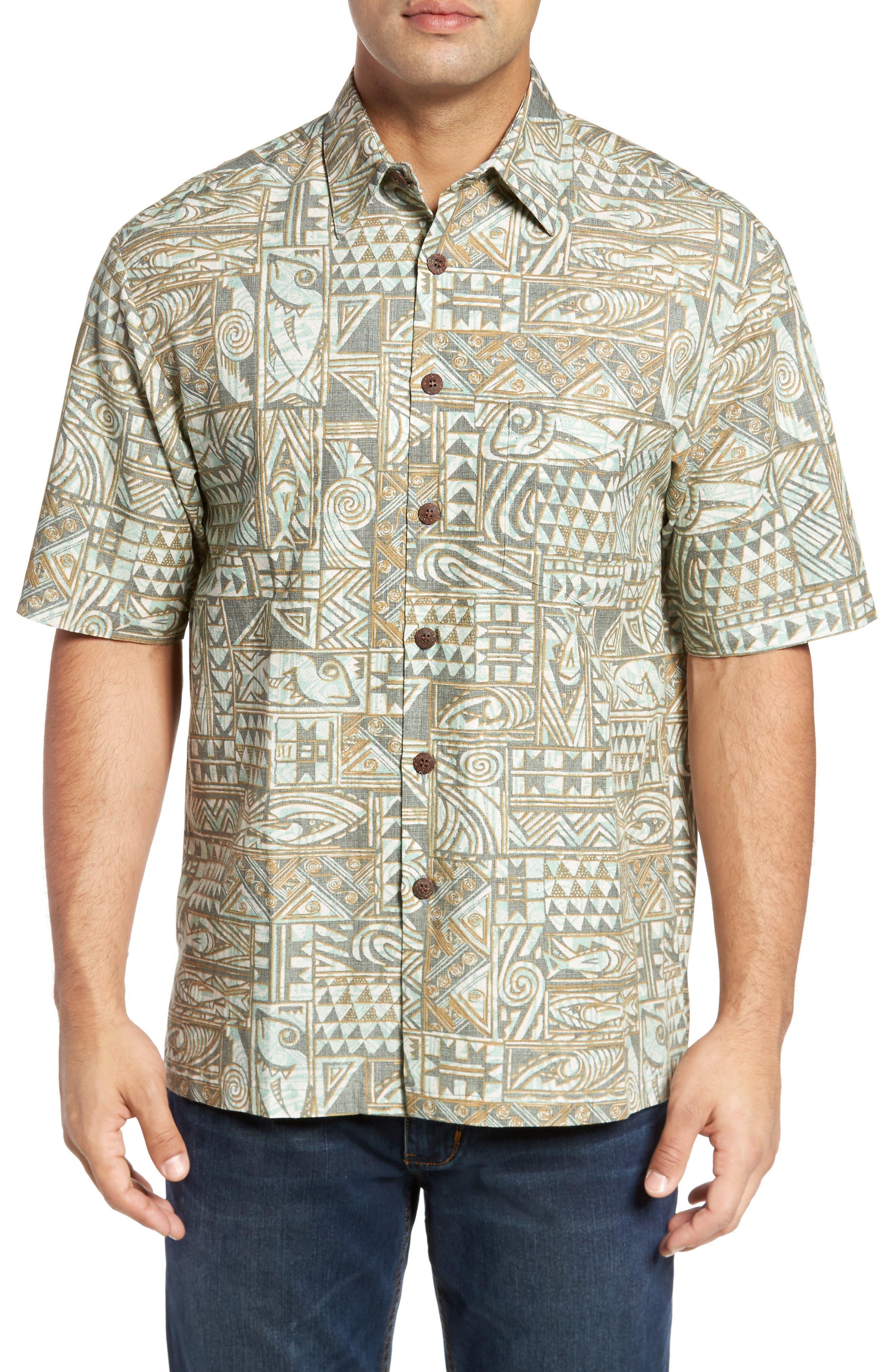 Ehukai Classic Fit Print Sport Shirt,                             Main thumbnail 1, color,                             020