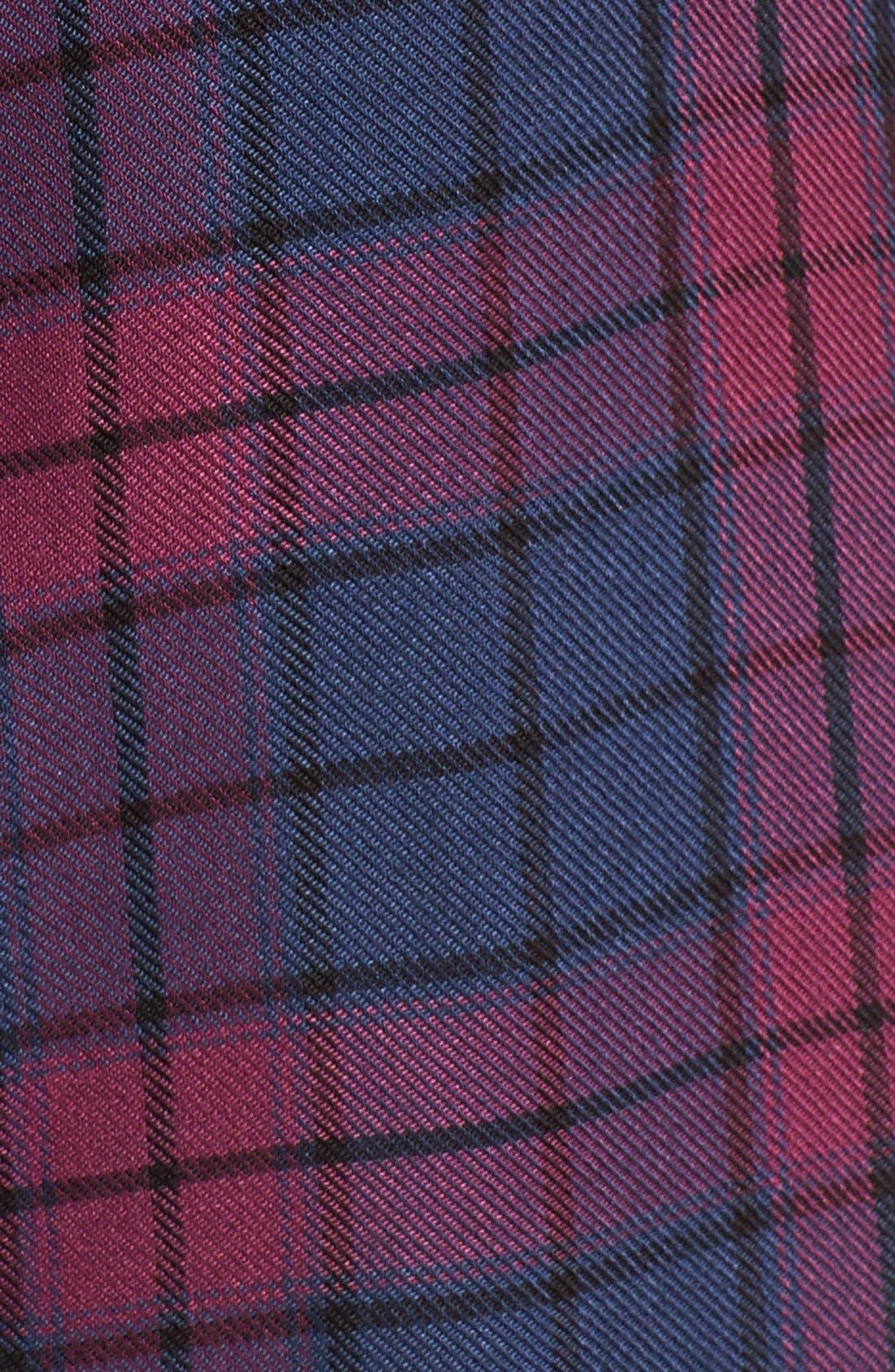 Sleeveless Plaid Shirtdress,                             Alternate thumbnail 2, color,                             460