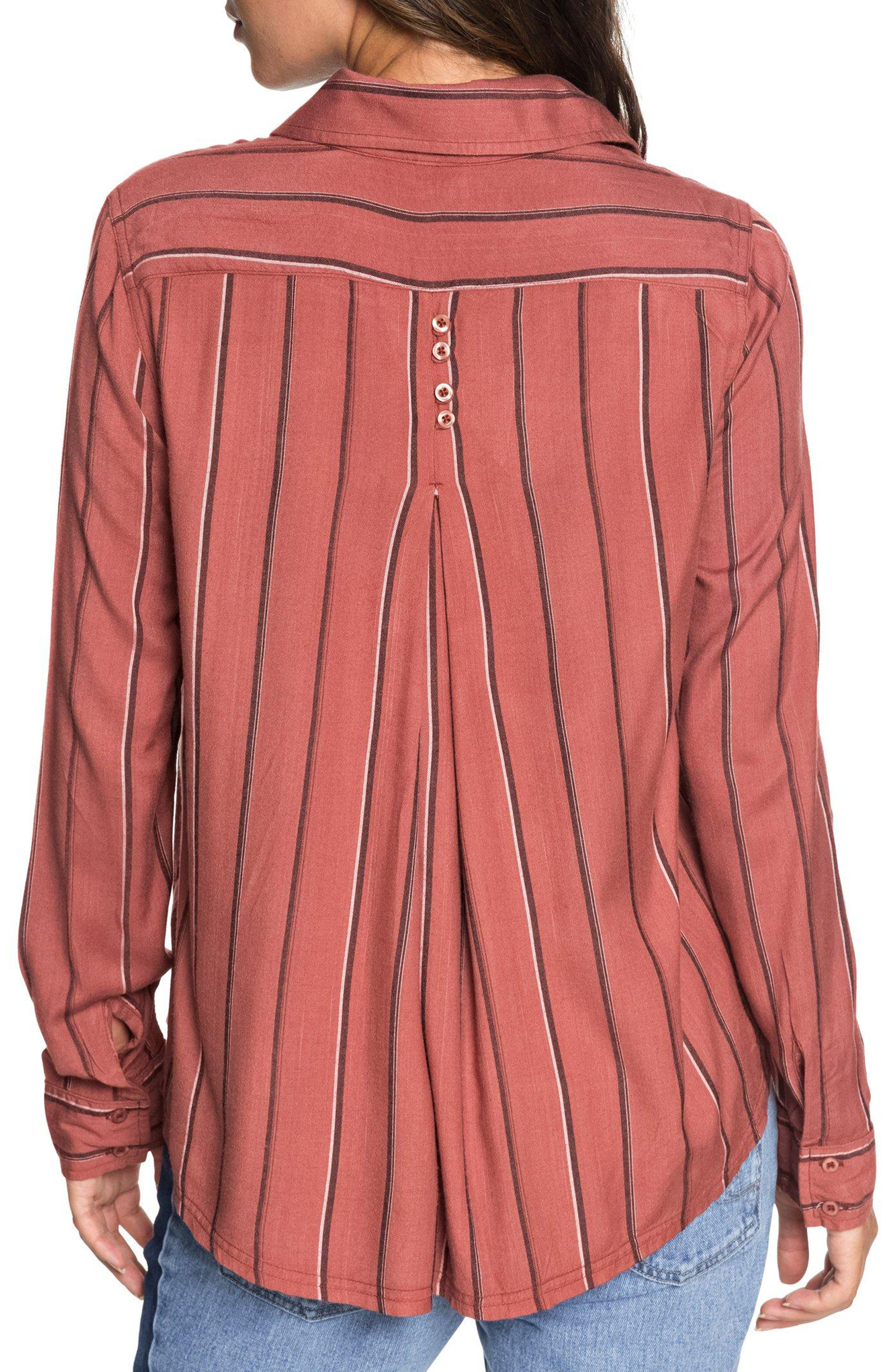 Concrete Streets Stripe Shirt,                             Alternate thumbnail 2, color,                             WITHERED ROSE