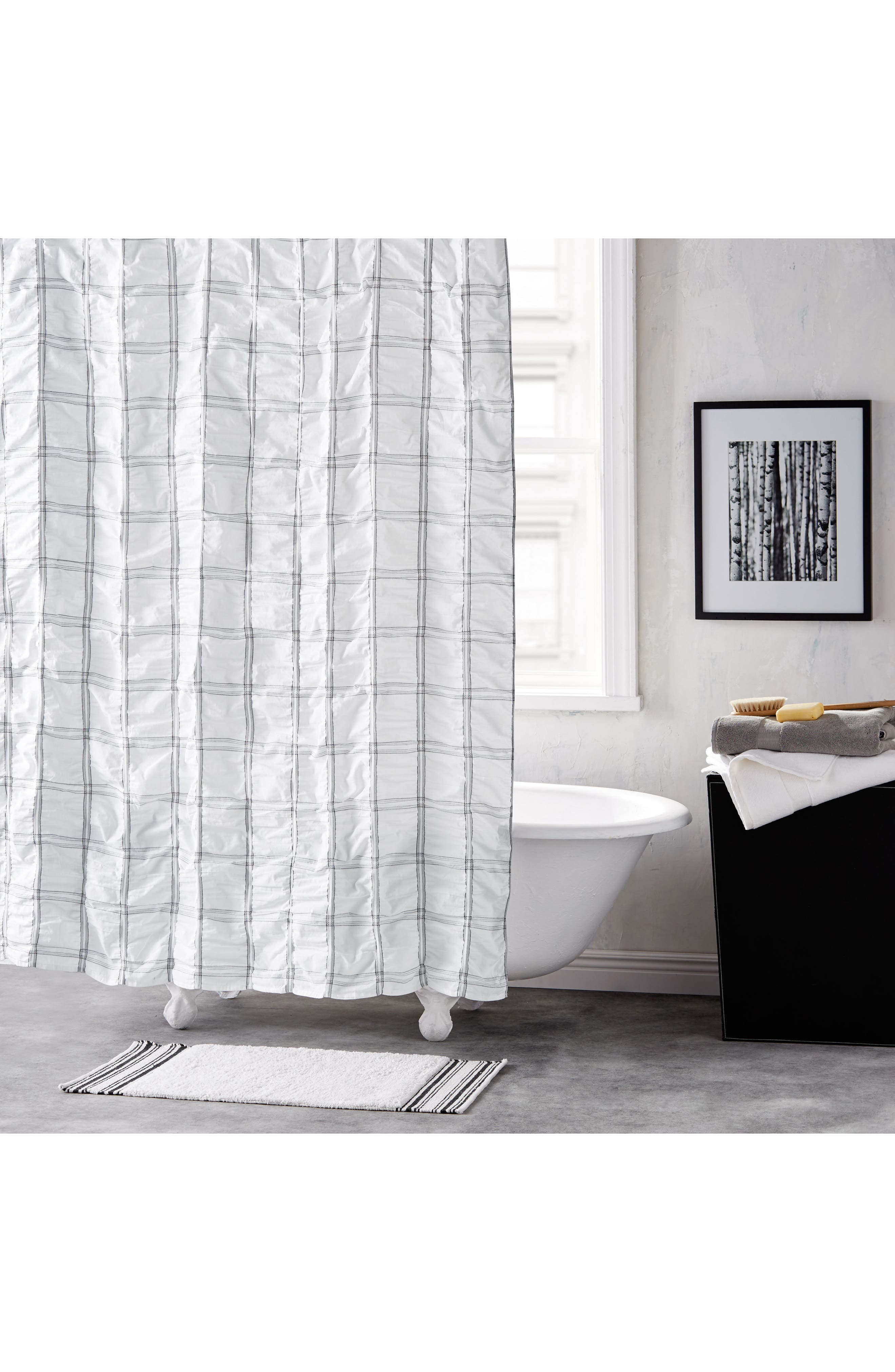 Check Please Shower Curtain,                         Main,                         color, 100