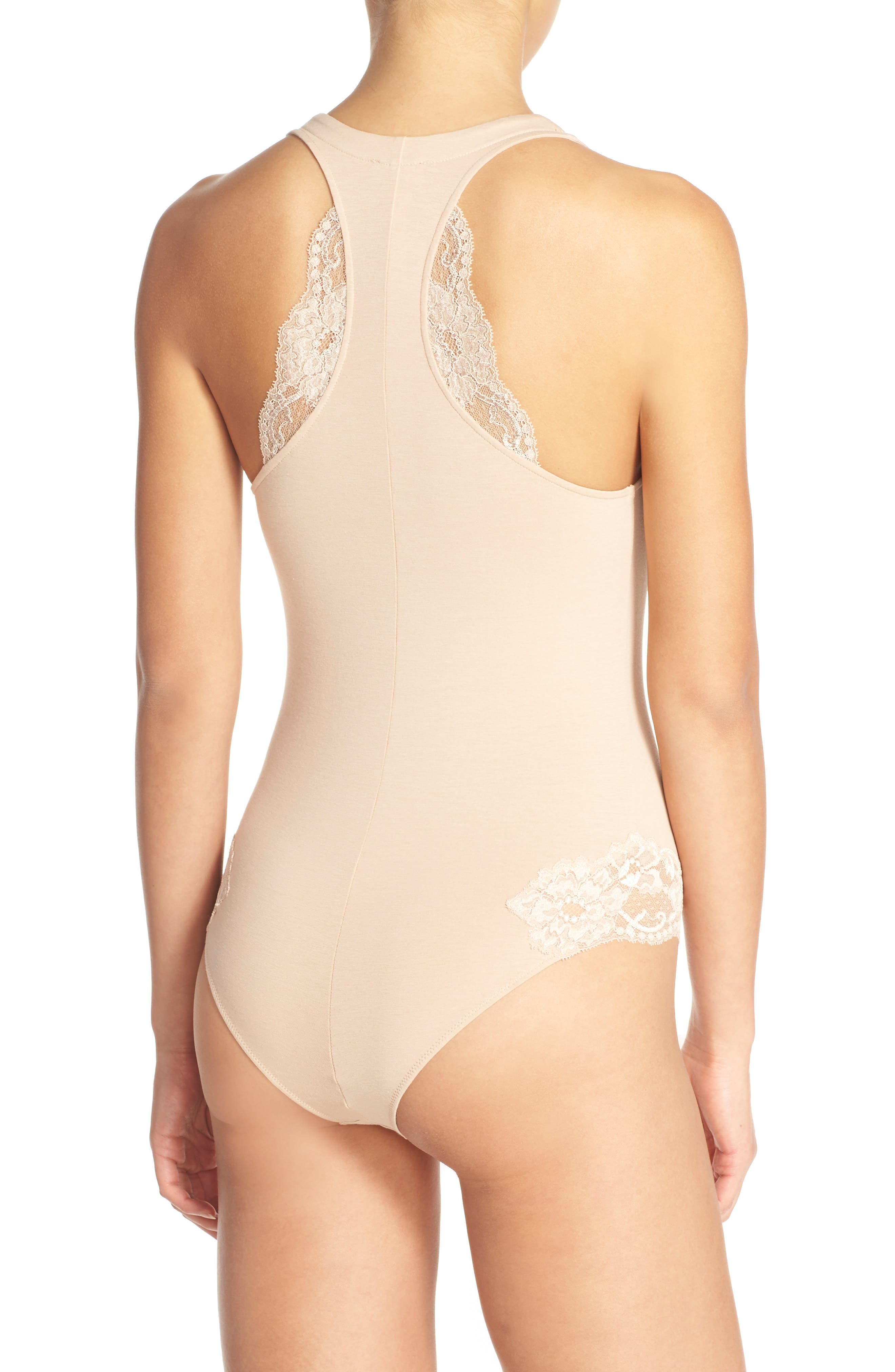 'Spalla Larga' Racerback Bodysuit,                             Alternate thumbnail 8, color,