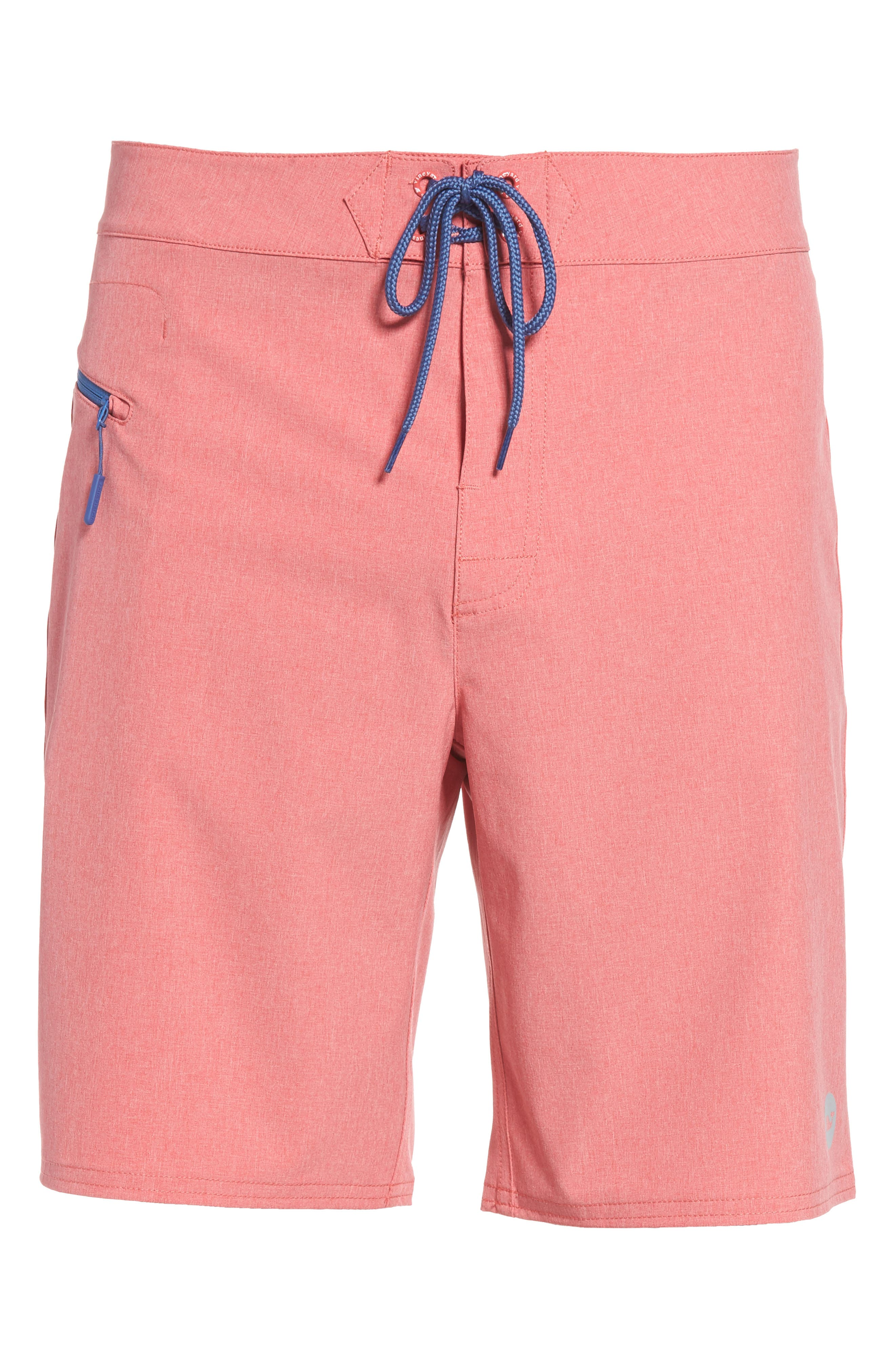Heather Stretch Board Shorts,                             Alternate thumbnail 23, color,