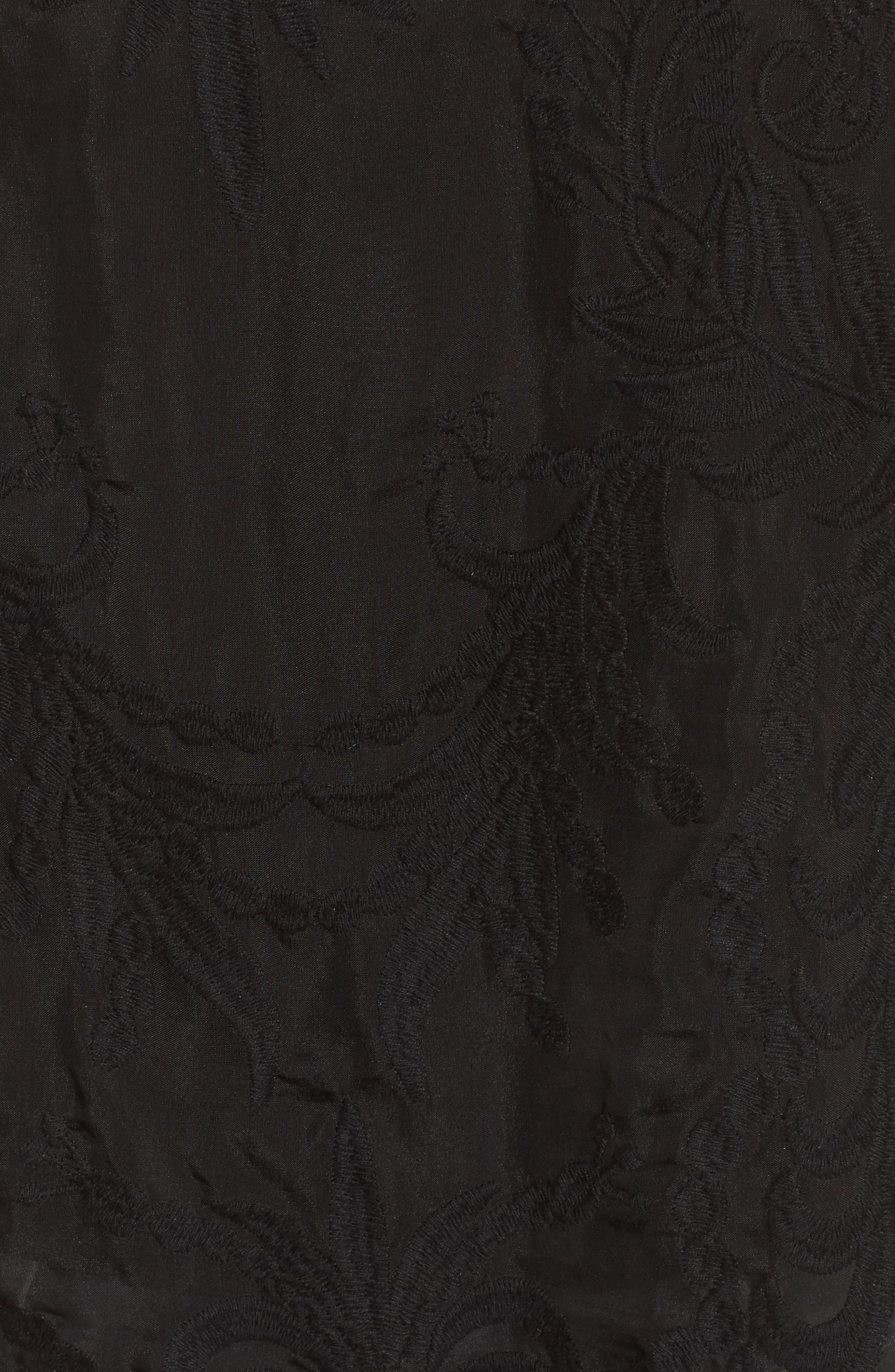 Lucca Lace Blouse,                             Alternate thumbnail 5, color,                             BLACK