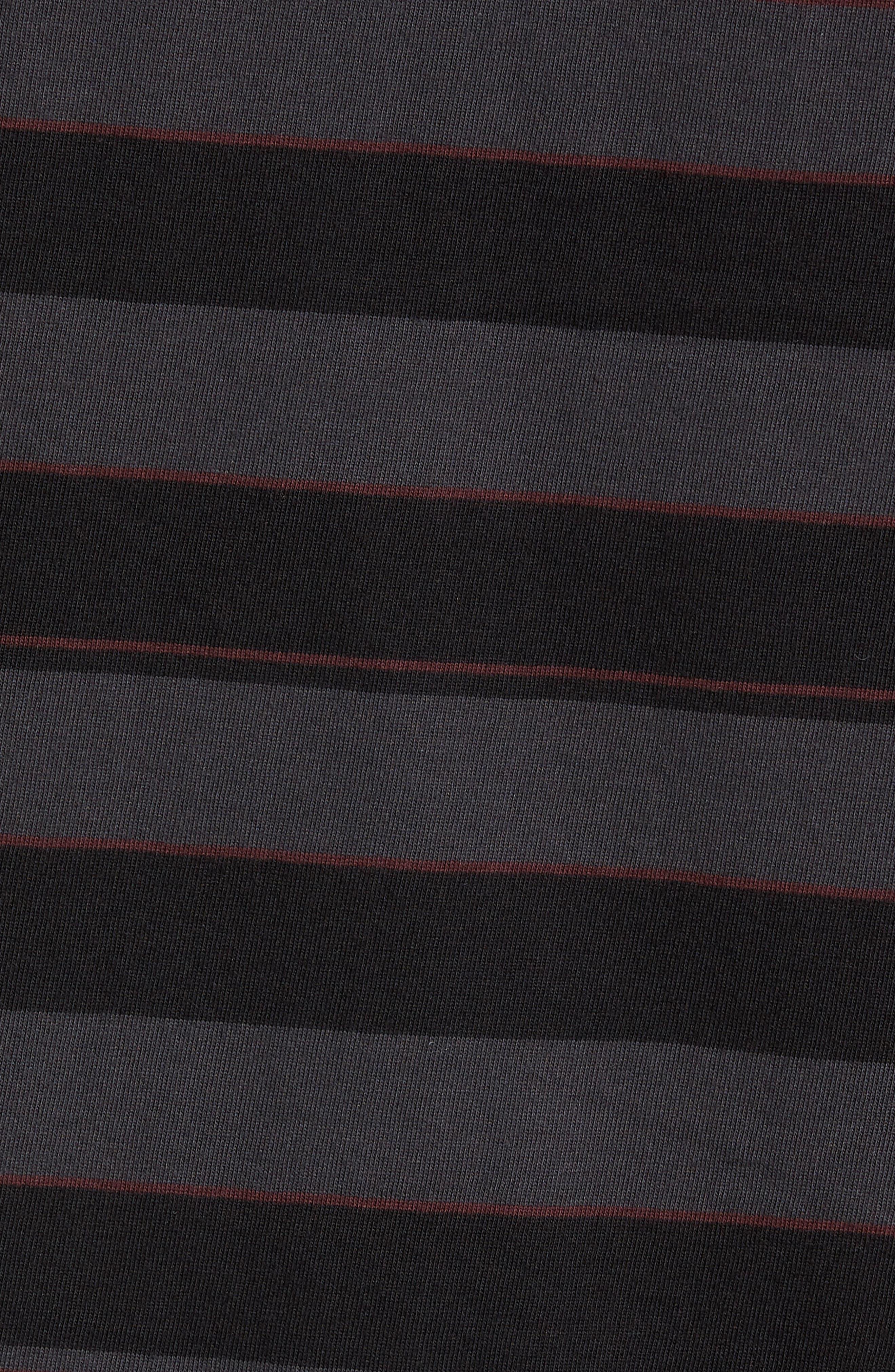 Hoop Box Long Sleeve T-Shirt,                             Alternate thumbnail 5, color,                             VINTAGE BLACK/ BLACK