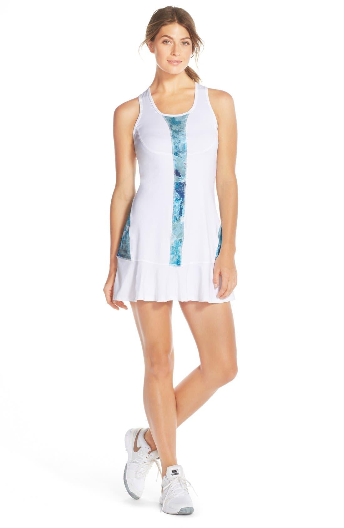 'Full Court' Tennis Dress,                             Main thumbnail 1, color,                             100