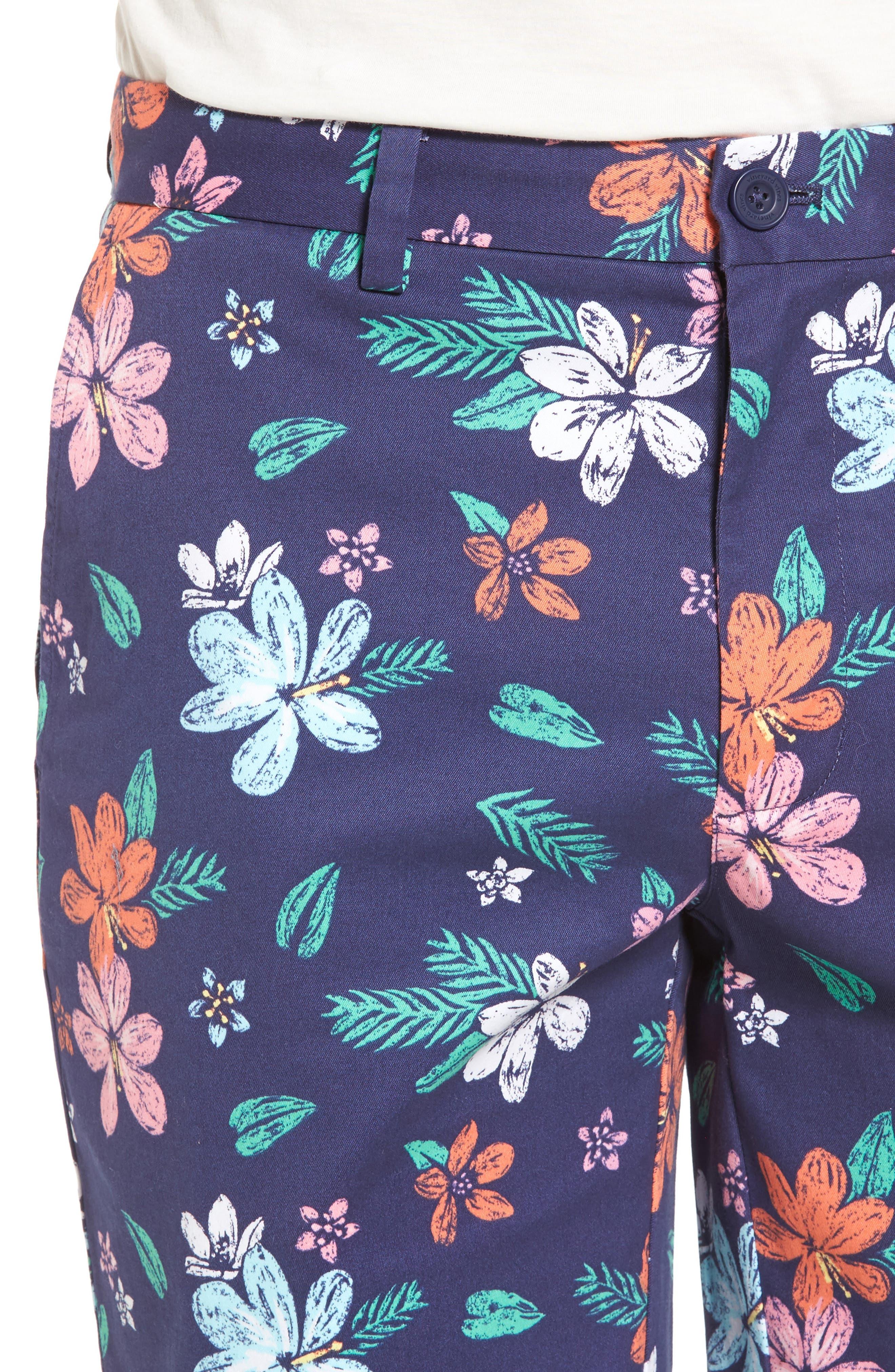 Floral Print Breaker Shorts,                             Alternate thumbnail 4, color,                             400