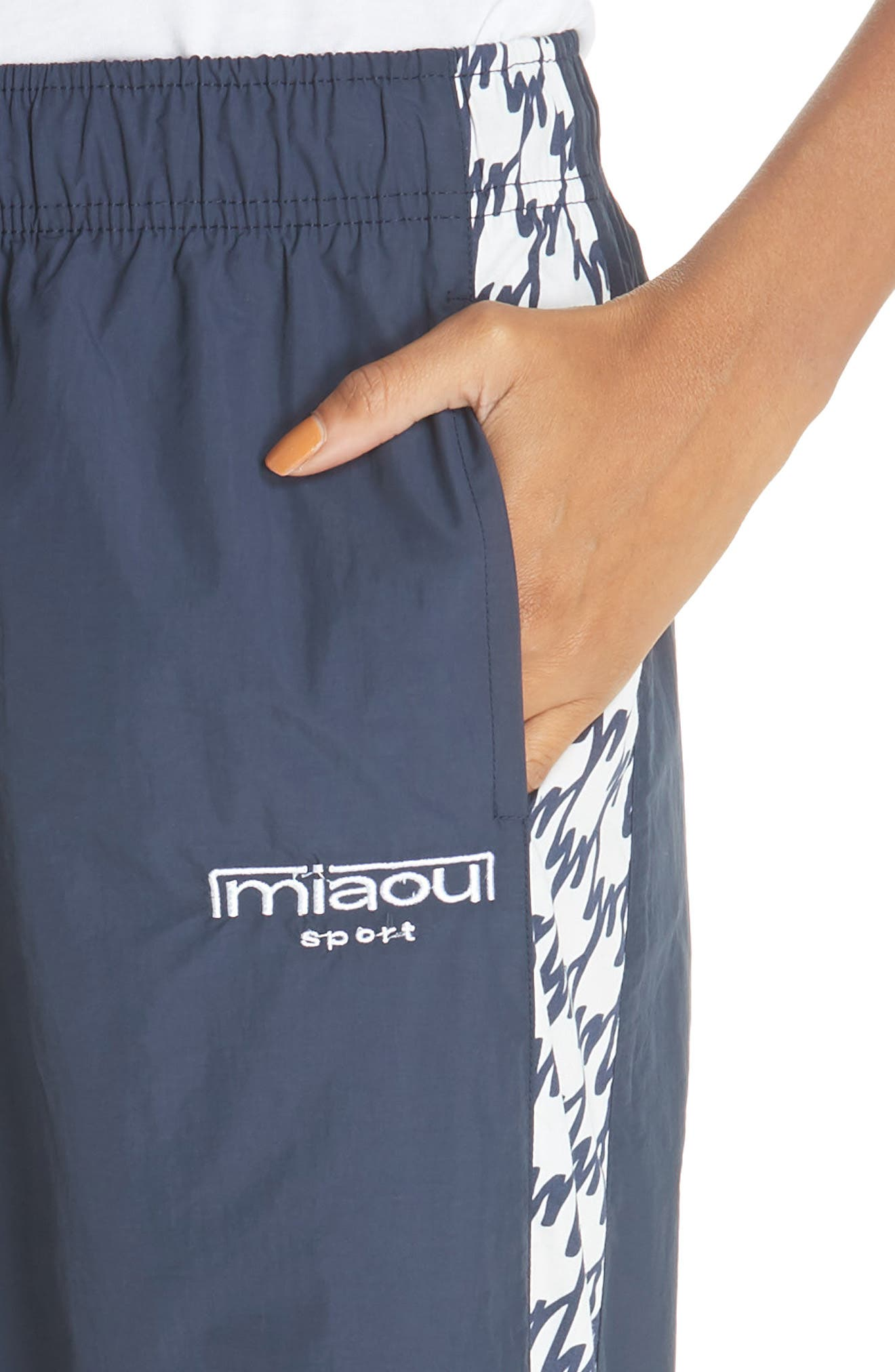 Jogger Pants,                             Alternate thumbnail 4, color,                             NAVY NYLON