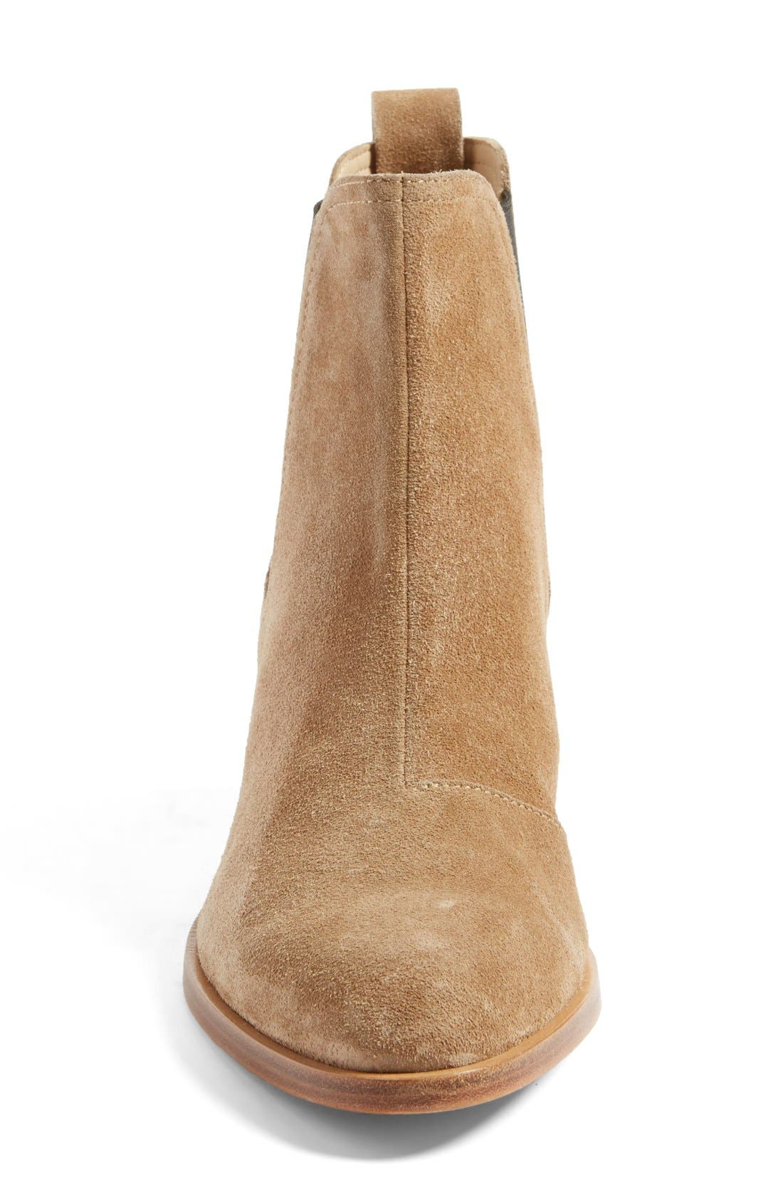 'Walker' Bootie,                             Alternate thumbnail 4, color,                             CAMEL SUEDE