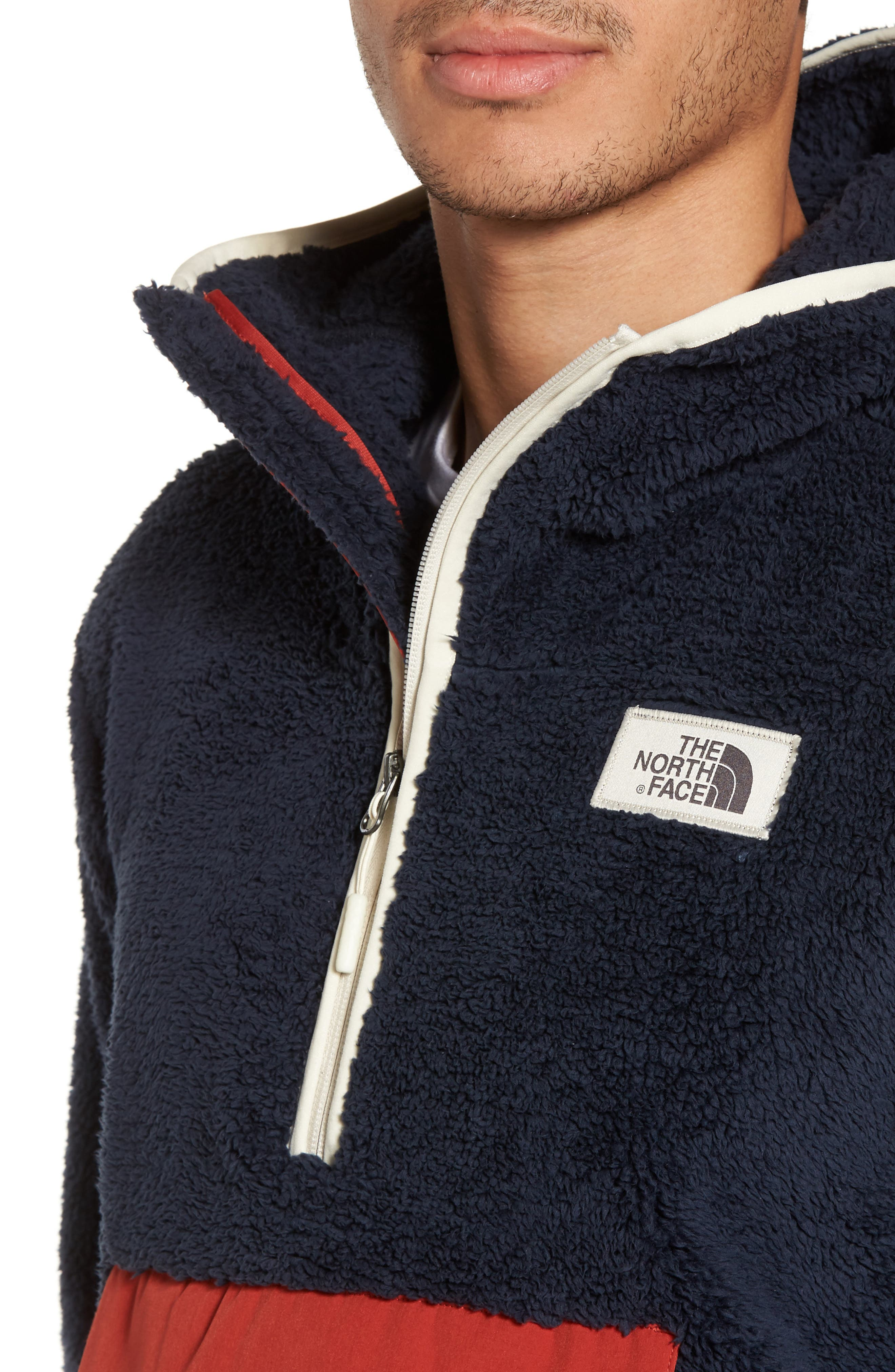 Campshire High Pile Fleece Pullover Hoodie,                             Alternate thumbnail 4, color,                             401