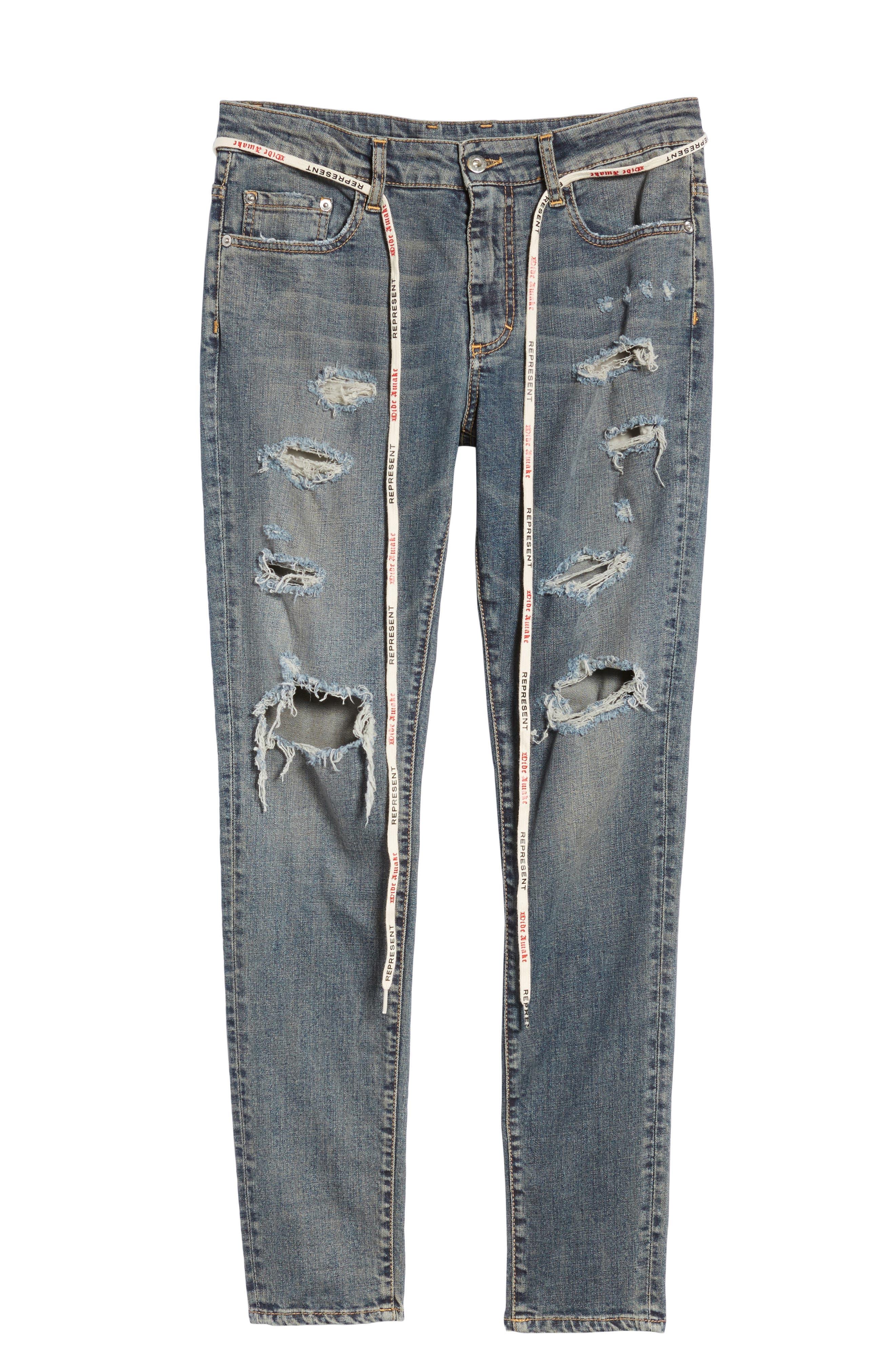 Repairer Slim Fit Denim Pants,                             Alternate thumbnail 6, color,                             ROCKSTAR BLUE