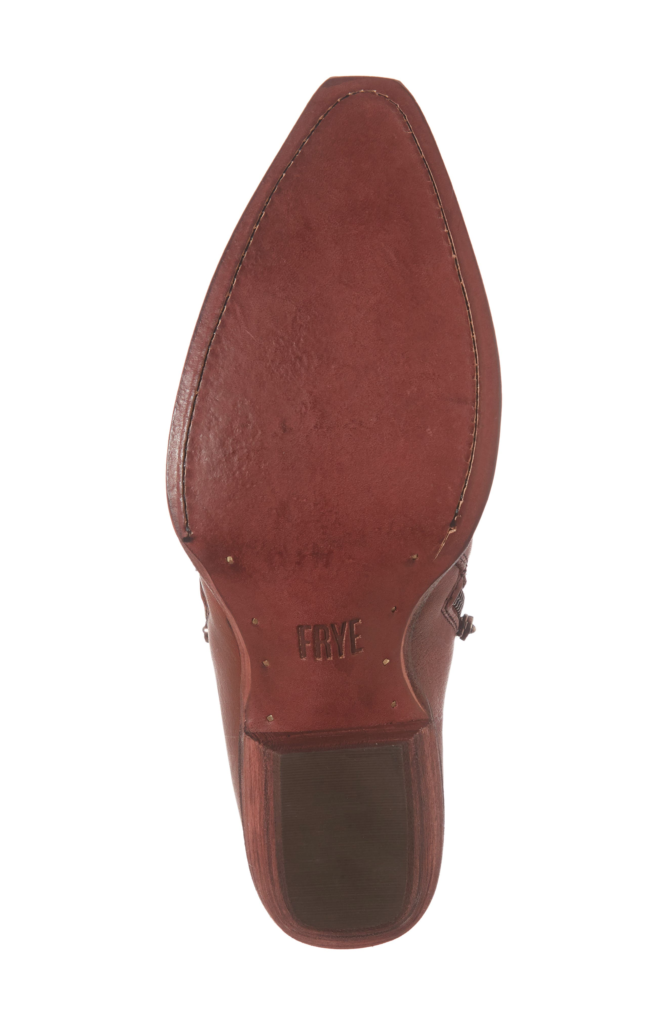 'Sacha' Moto Shootie,                             Alternate thumbnail 6, color,                             RED CLAY LEATHER