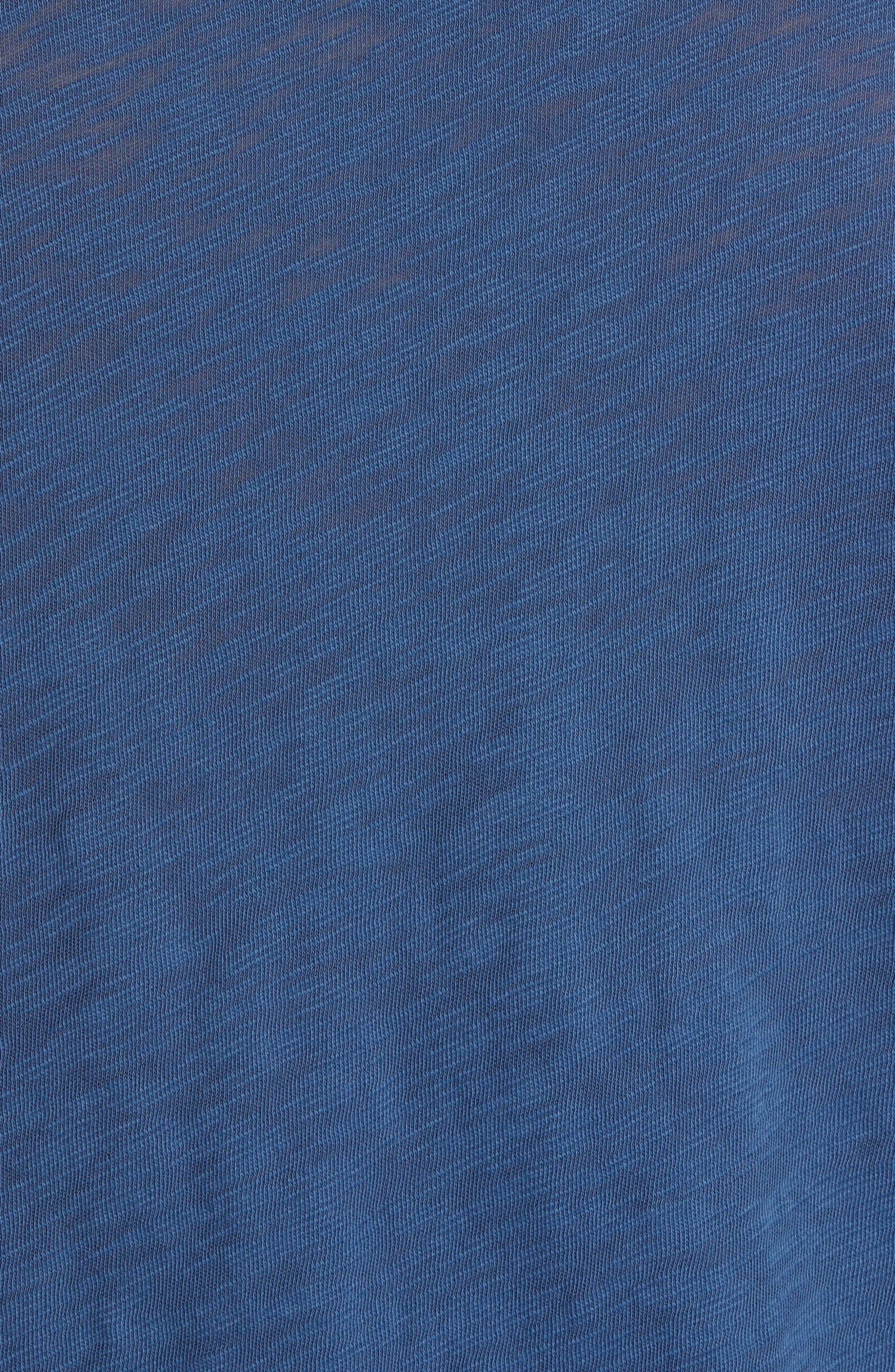 Destroyed Long Sleeve T-Shirt,                             Alternate thumbnail 5, color,                             DEEP OCEAN