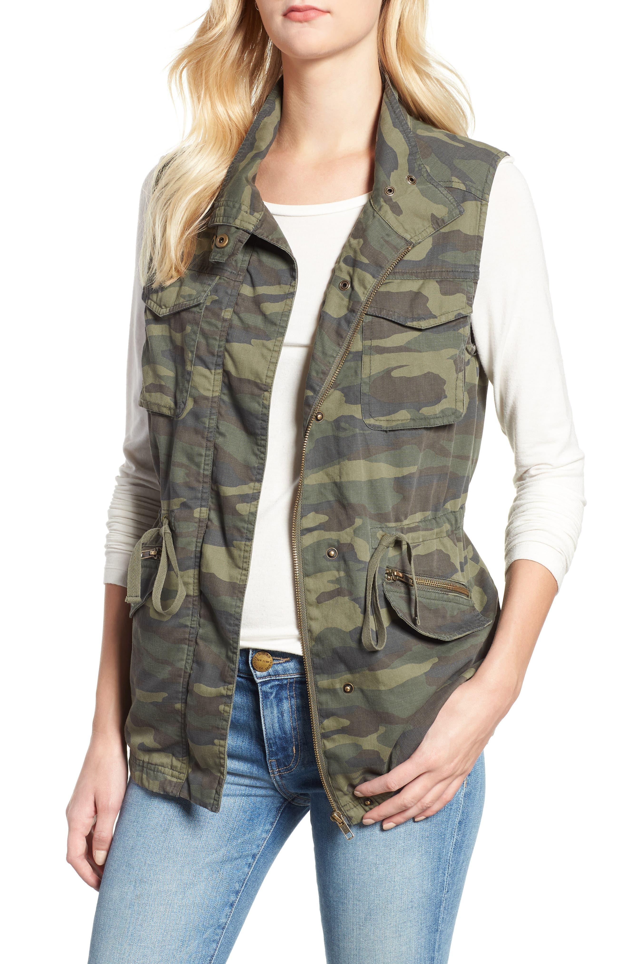 Utility Vest,                         Main,                         color, OLIVE CAMO PRINT