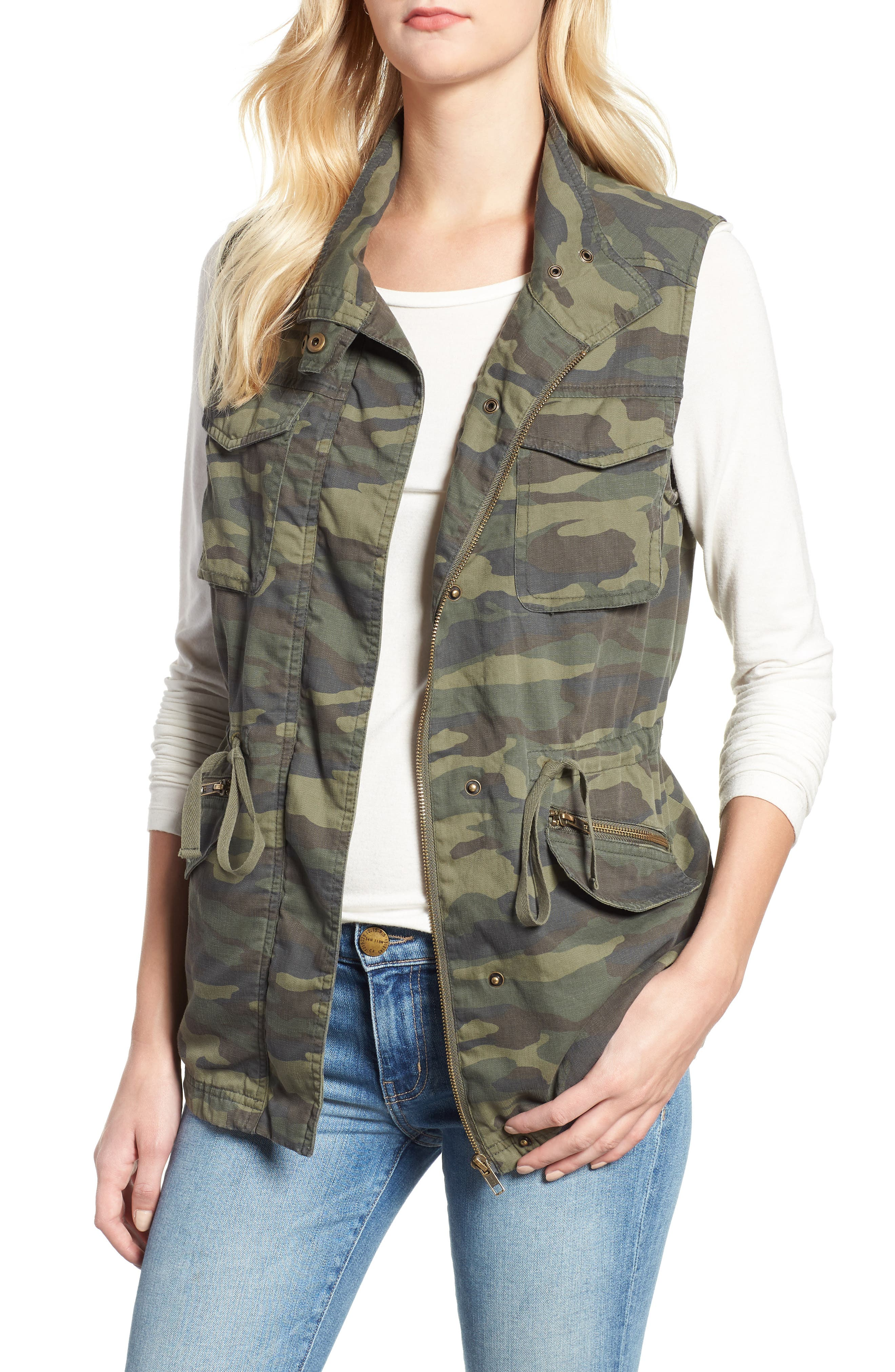 caslon u00ae utility vest  regular  u0026 petite