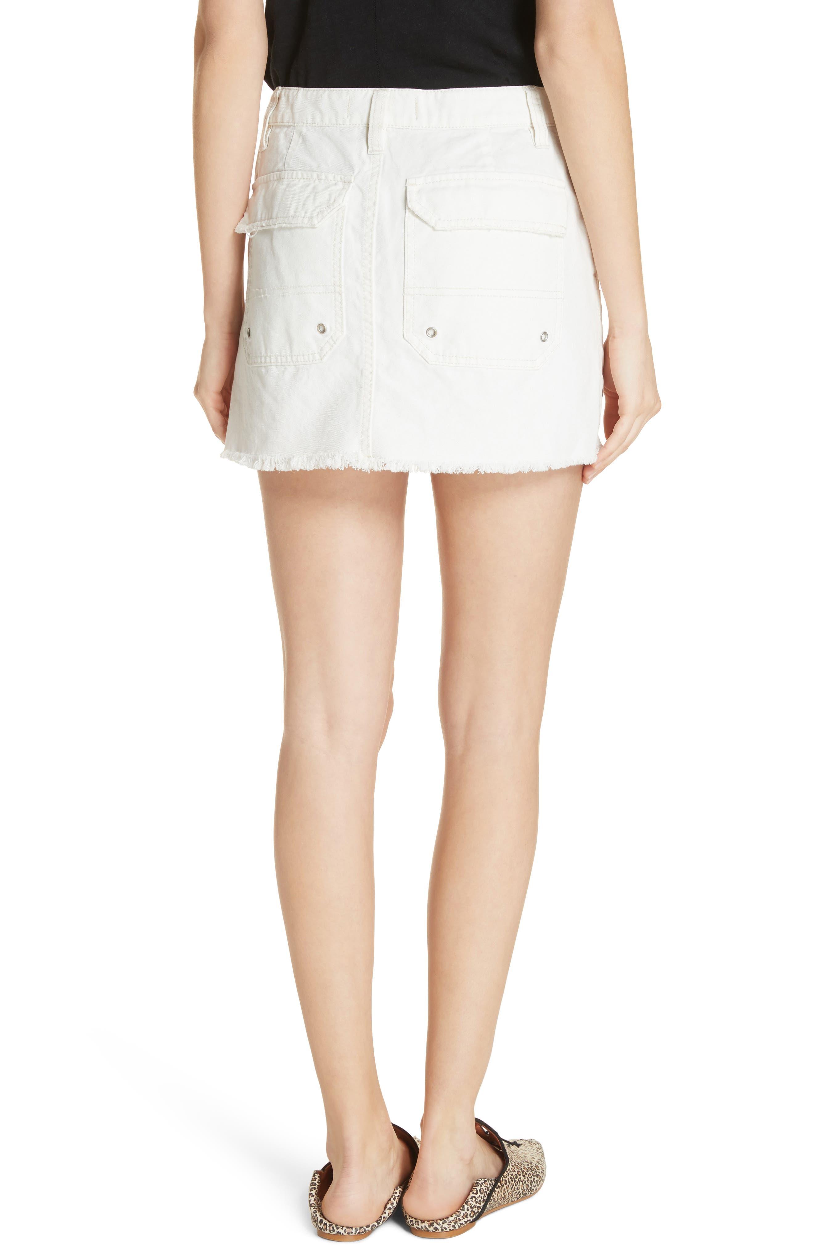 Canvas Miniskirt,                             Alternate thumbnail 6, color,